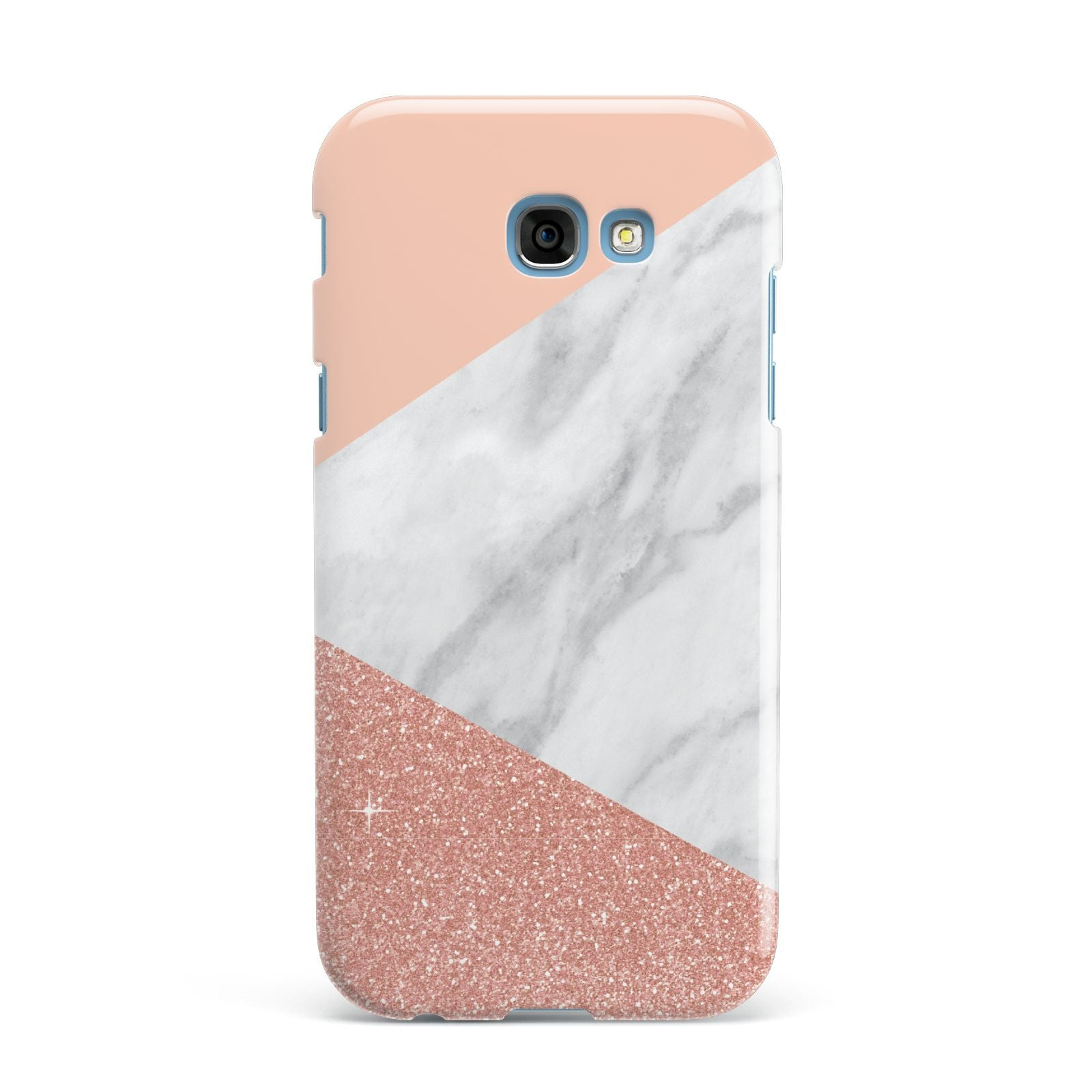 Marble White Rose Gold Samsung Galaxy A7 2017 Case