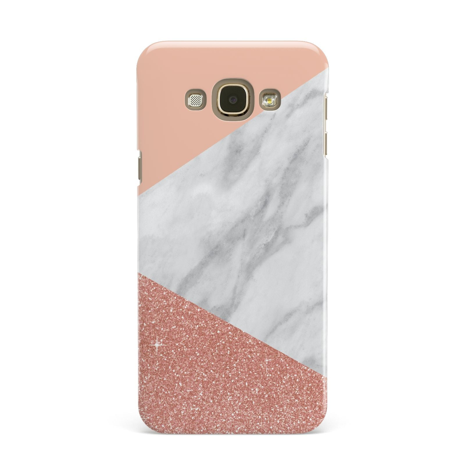 Marble White Rose Gold Samsung Galaxy A8 Case
