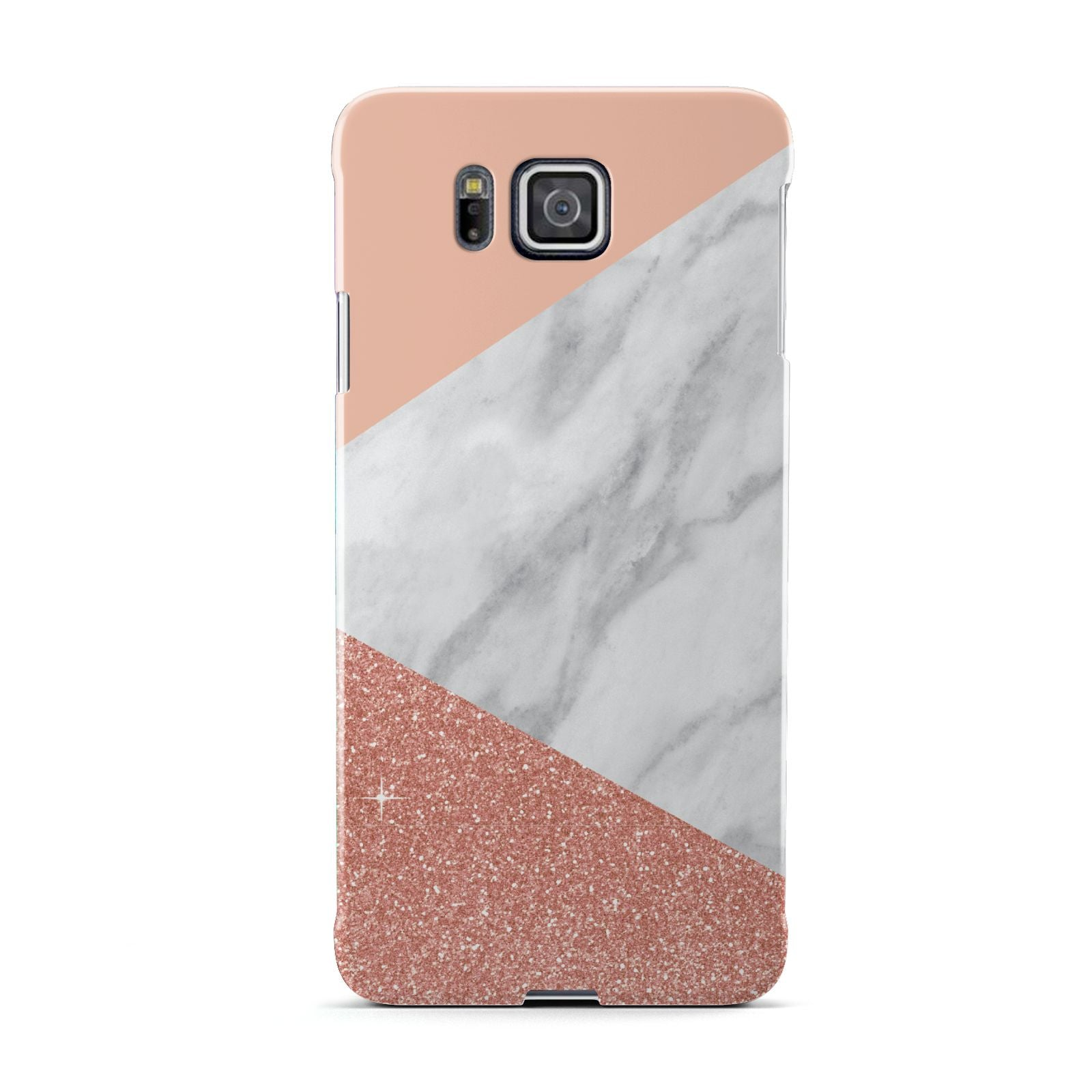 Marble White Rose Gold Samsung Galaxy Alpha Case
