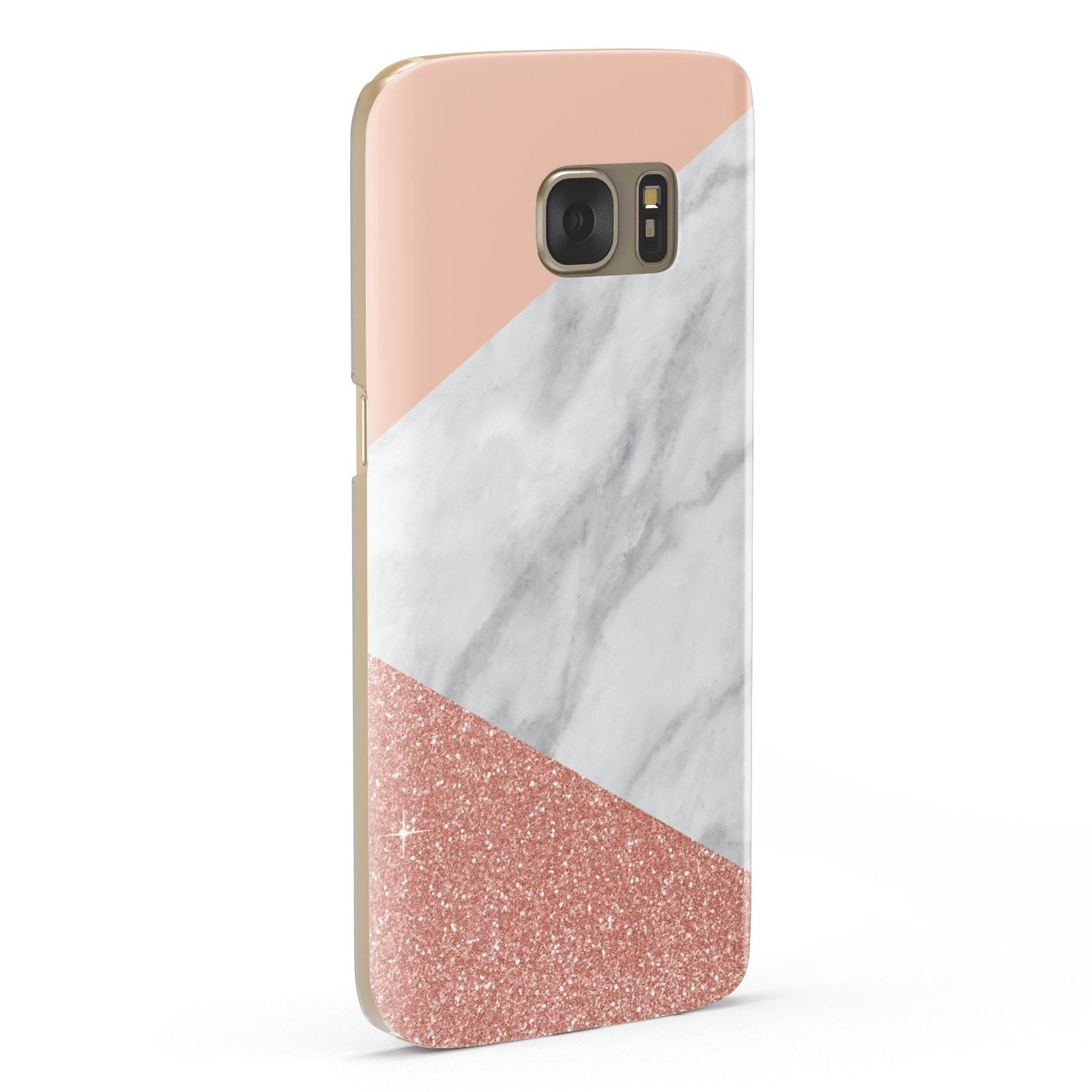 Marble White Rose Gold Samsung Galaxy Case Fourty Five Degrees
