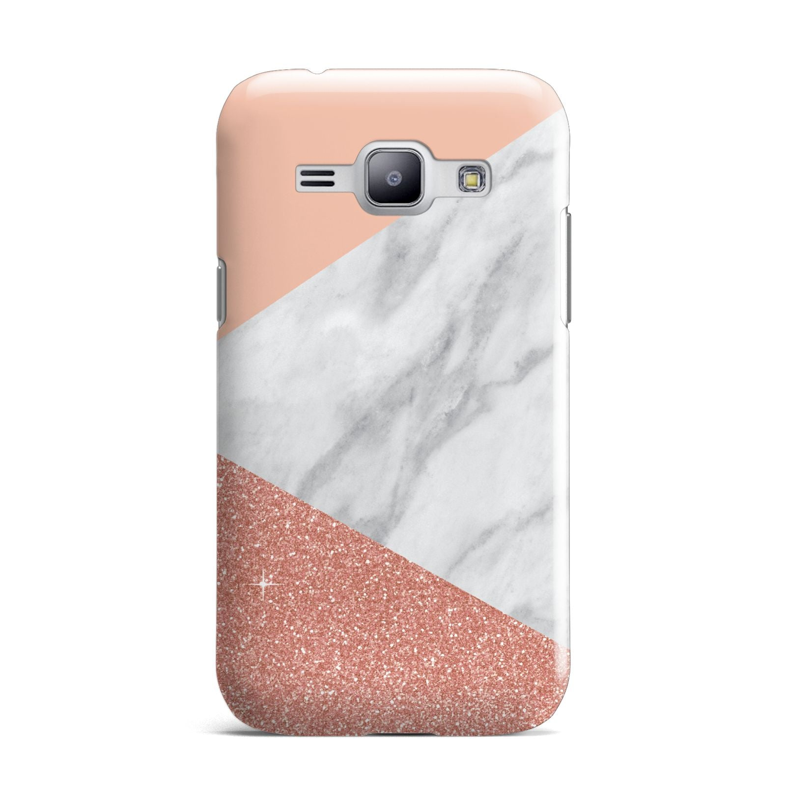 Marble White Rose Gold Samsung Galaxy J1 2015 Case