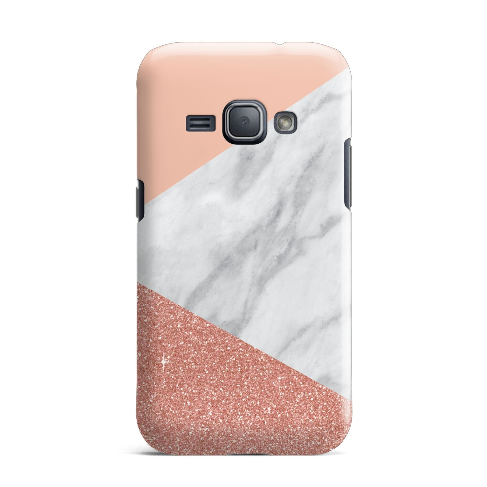 Marble White Rose Gold Samsung Galaxy J1 2016 Case