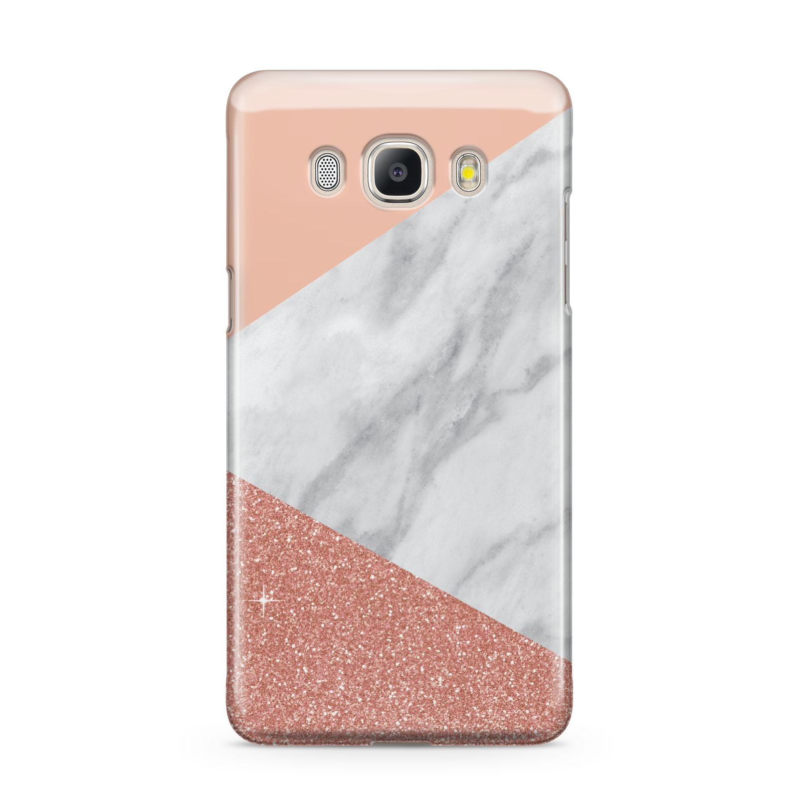 Marble White Rose Gold Samsung Galaxy J5 2016 Case