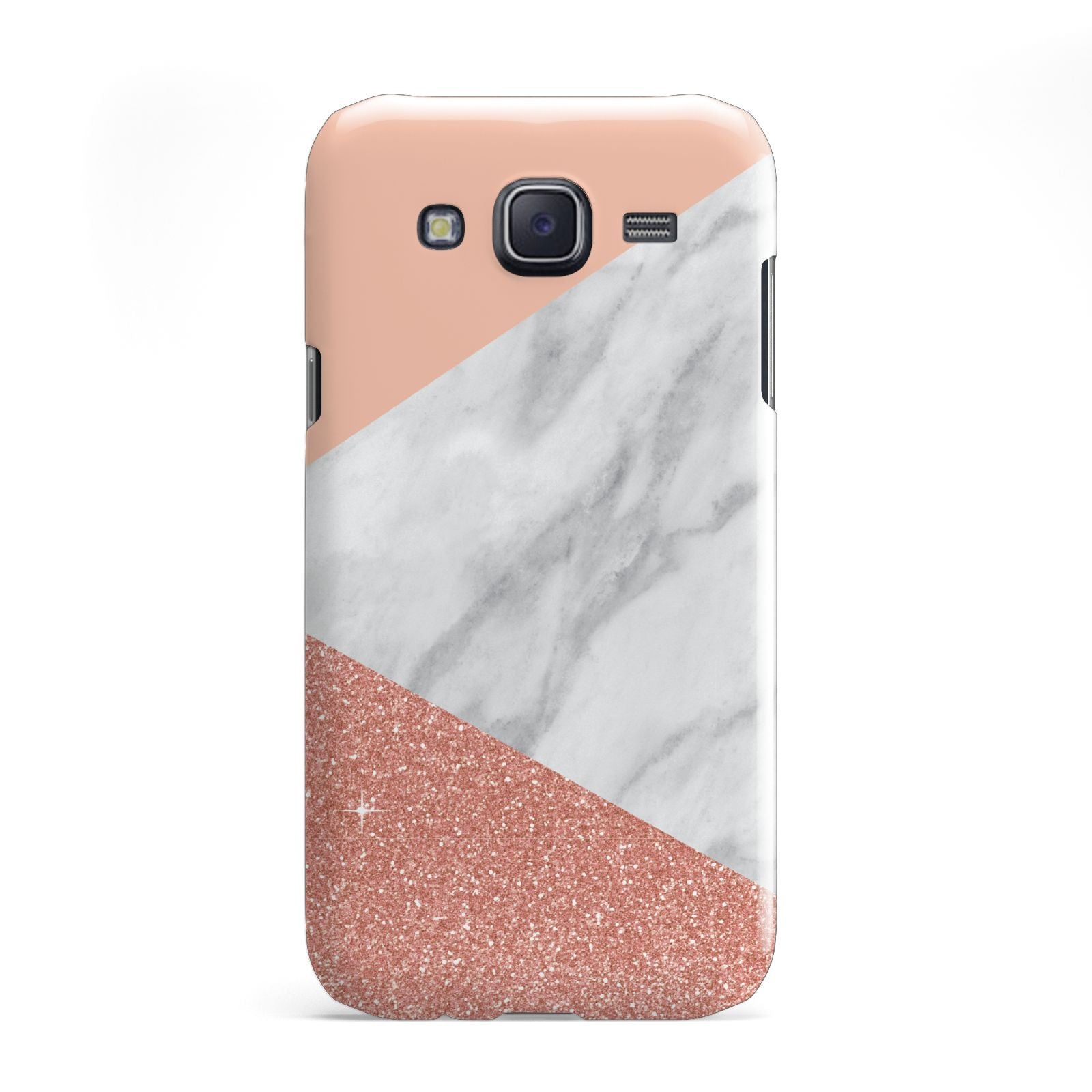Marble White Rose Gold Samsung Galaxy J5 Case