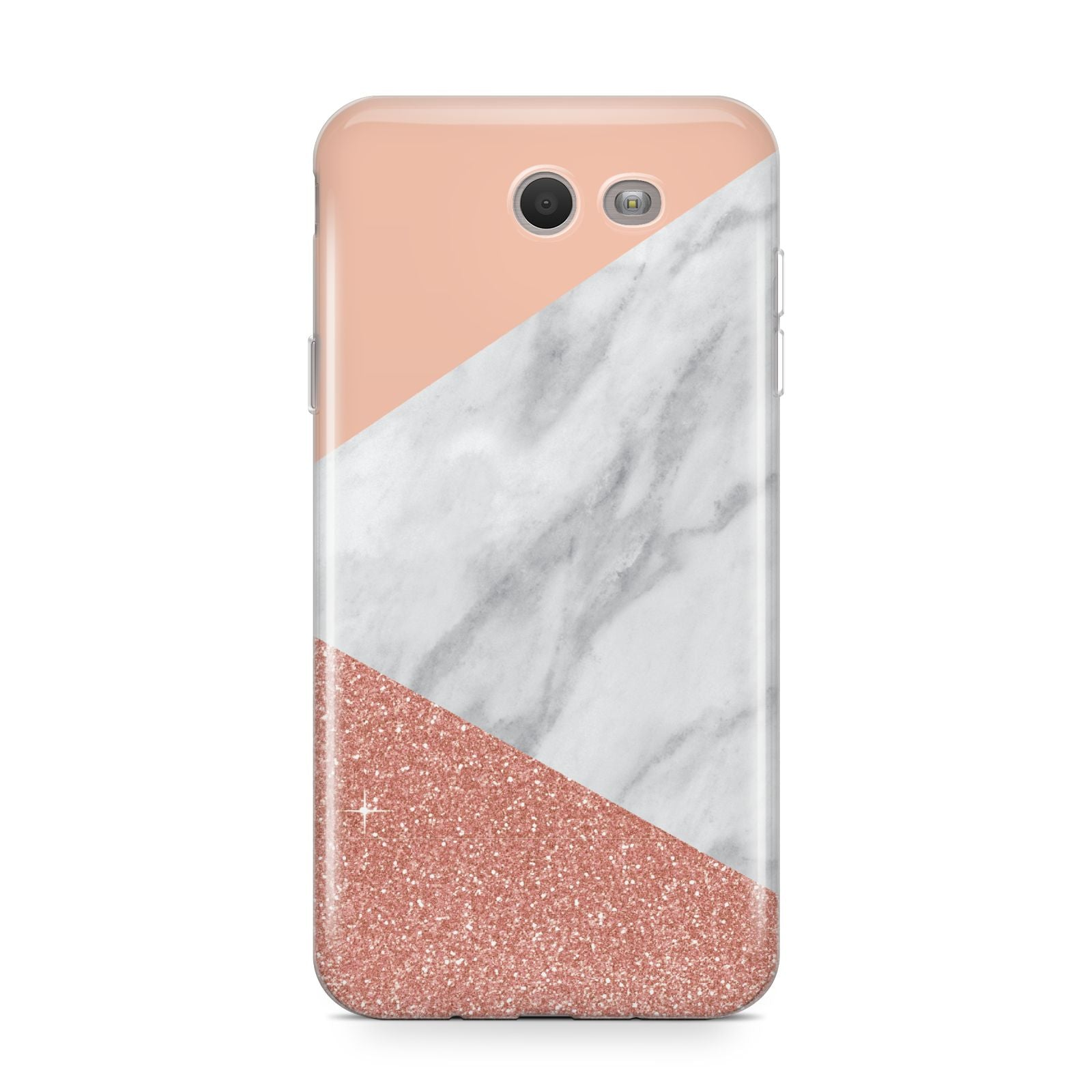 Marble White Rose Gold Samsung Galaxy J7 2017 Case