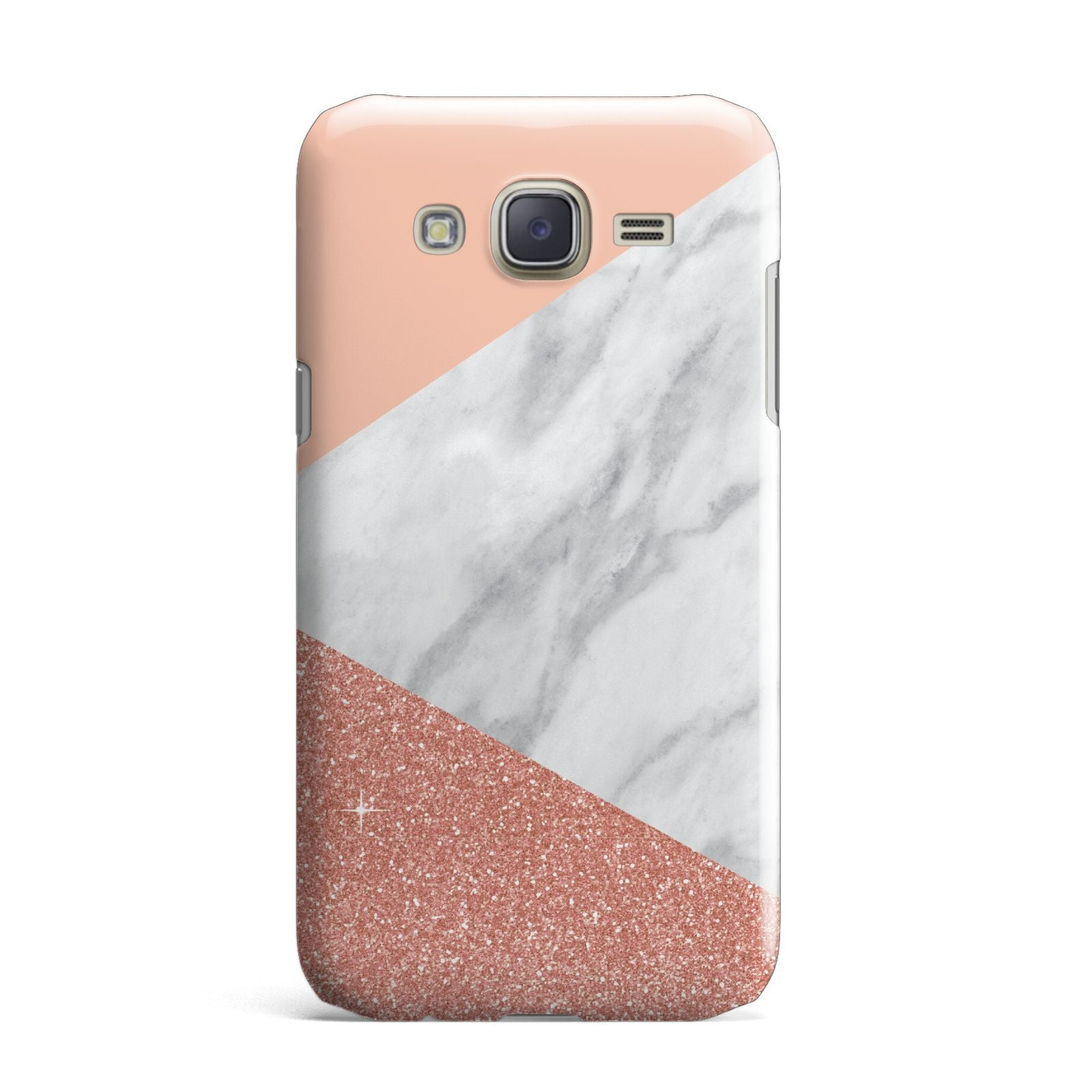 Marble White Rose Gold Samsung Galaxy J7 Case