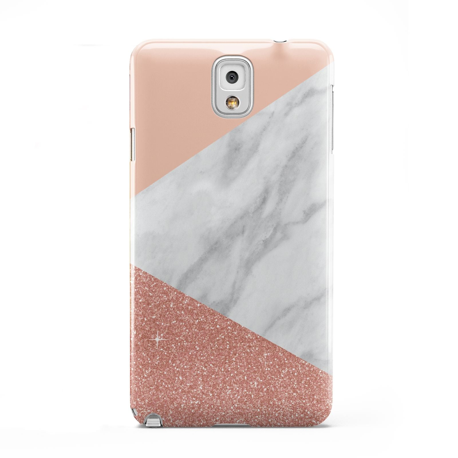 Marble White Rose Gold Samsung Galaxy Note 3 Case