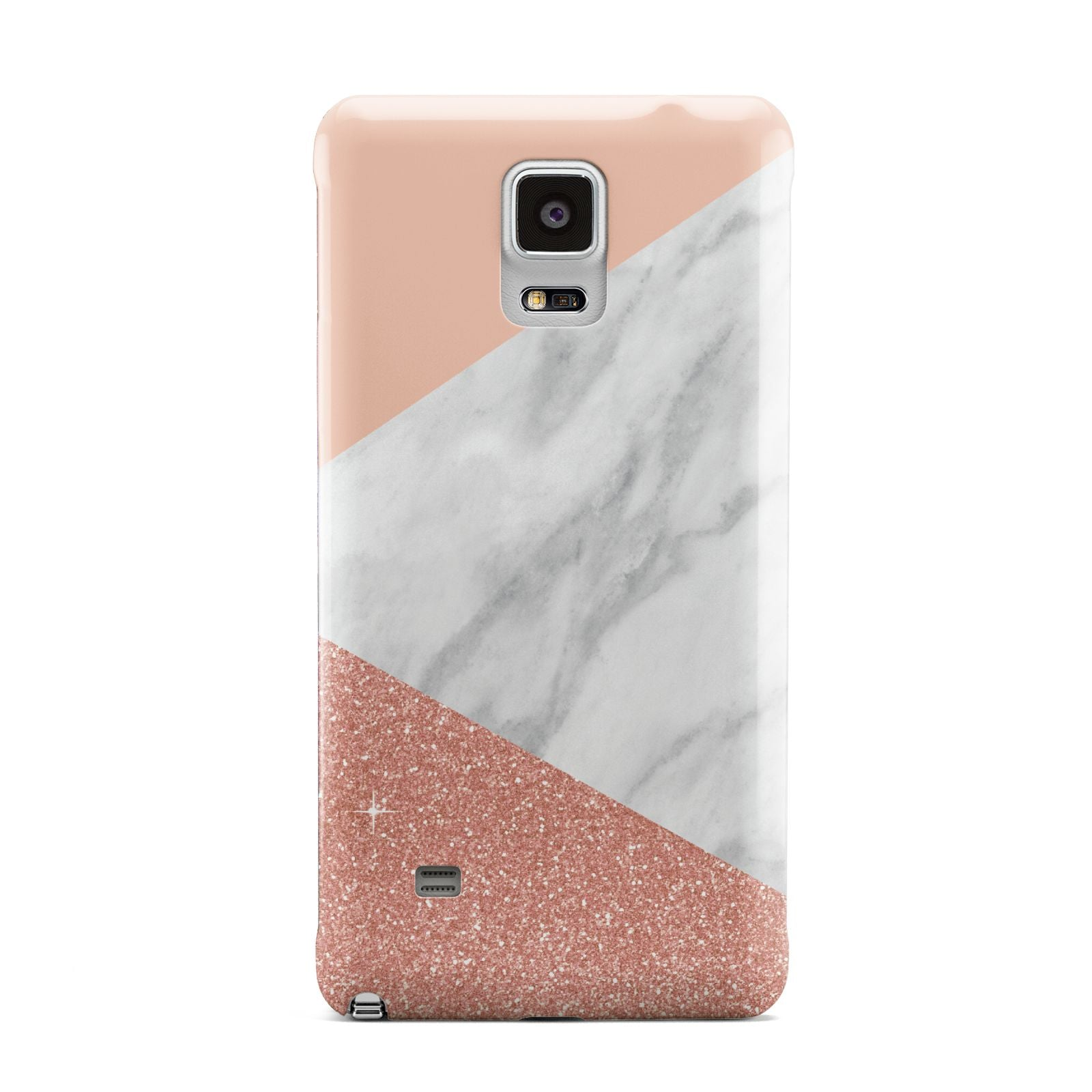 Marble White Rose Gold Samsung Galaxy Note 4 Case