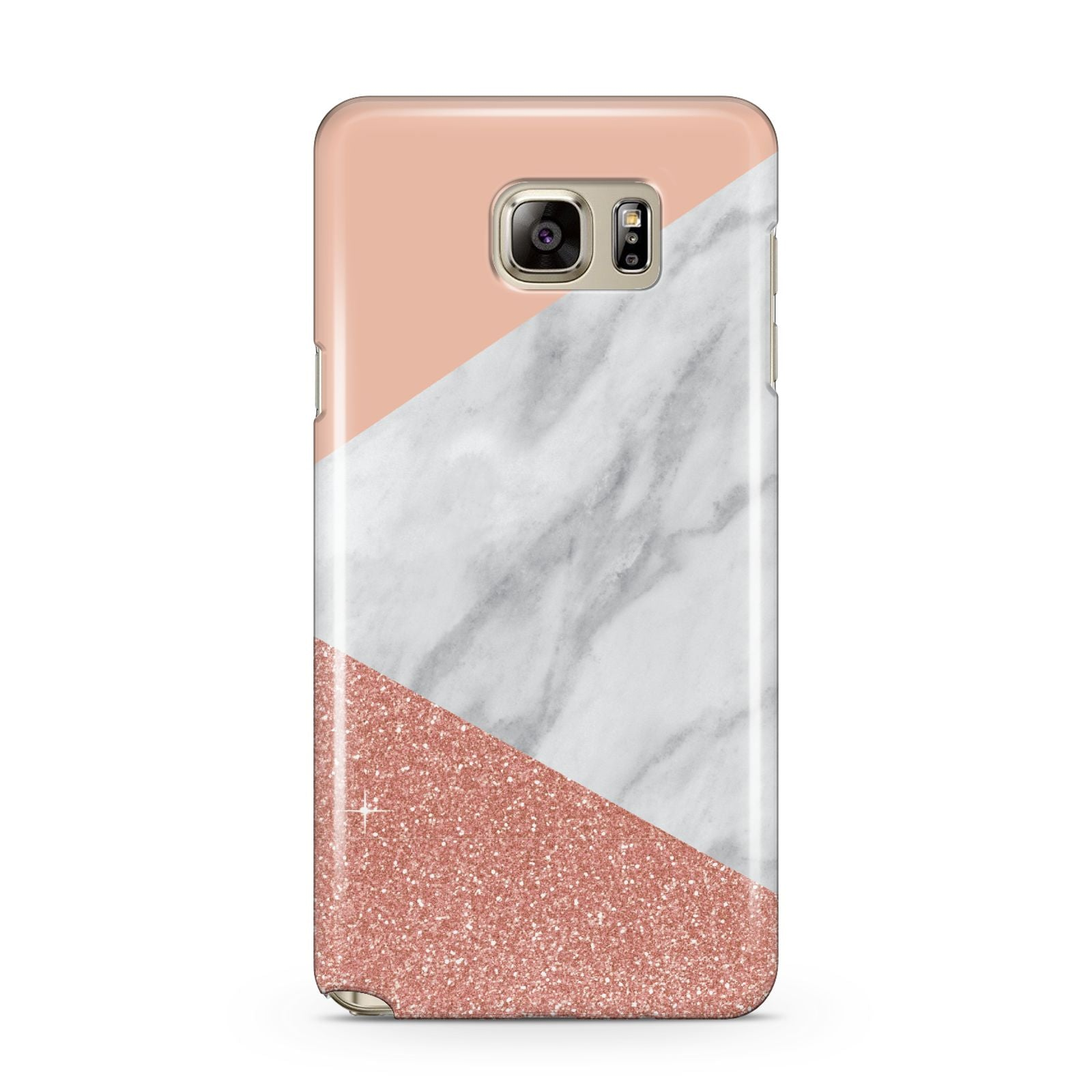 Marble White Rose Gold Samsung Galaxy Note 5 Case