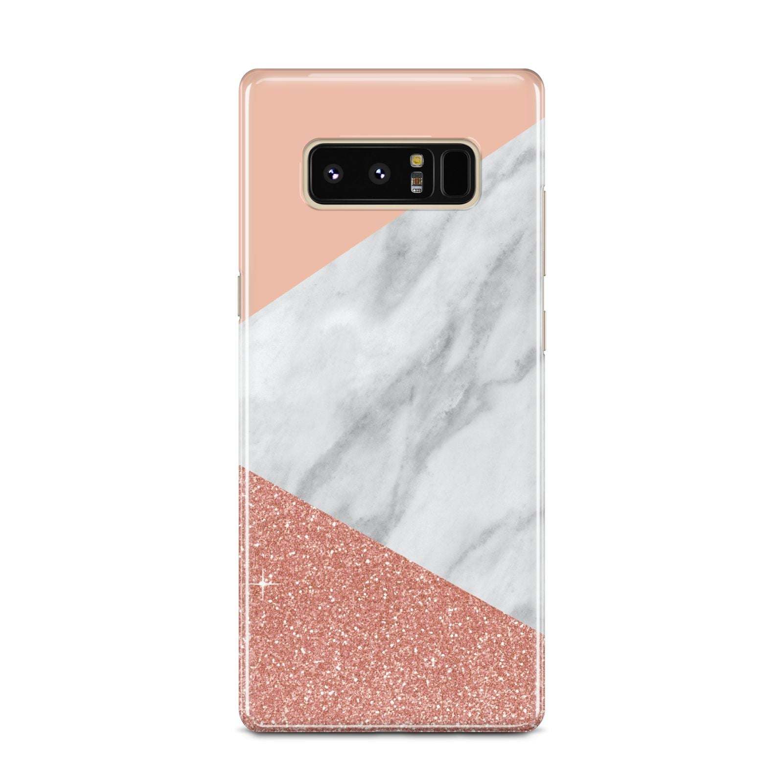 Marble White Rose Gold Samsung Galaxy Note 8 Case