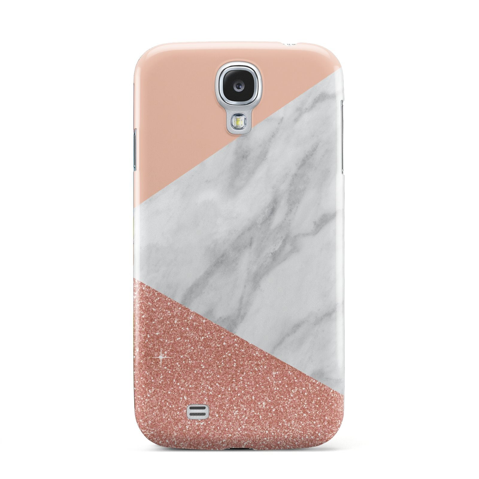 Marble White Rose Gold Samsung Galaxy S4 Case