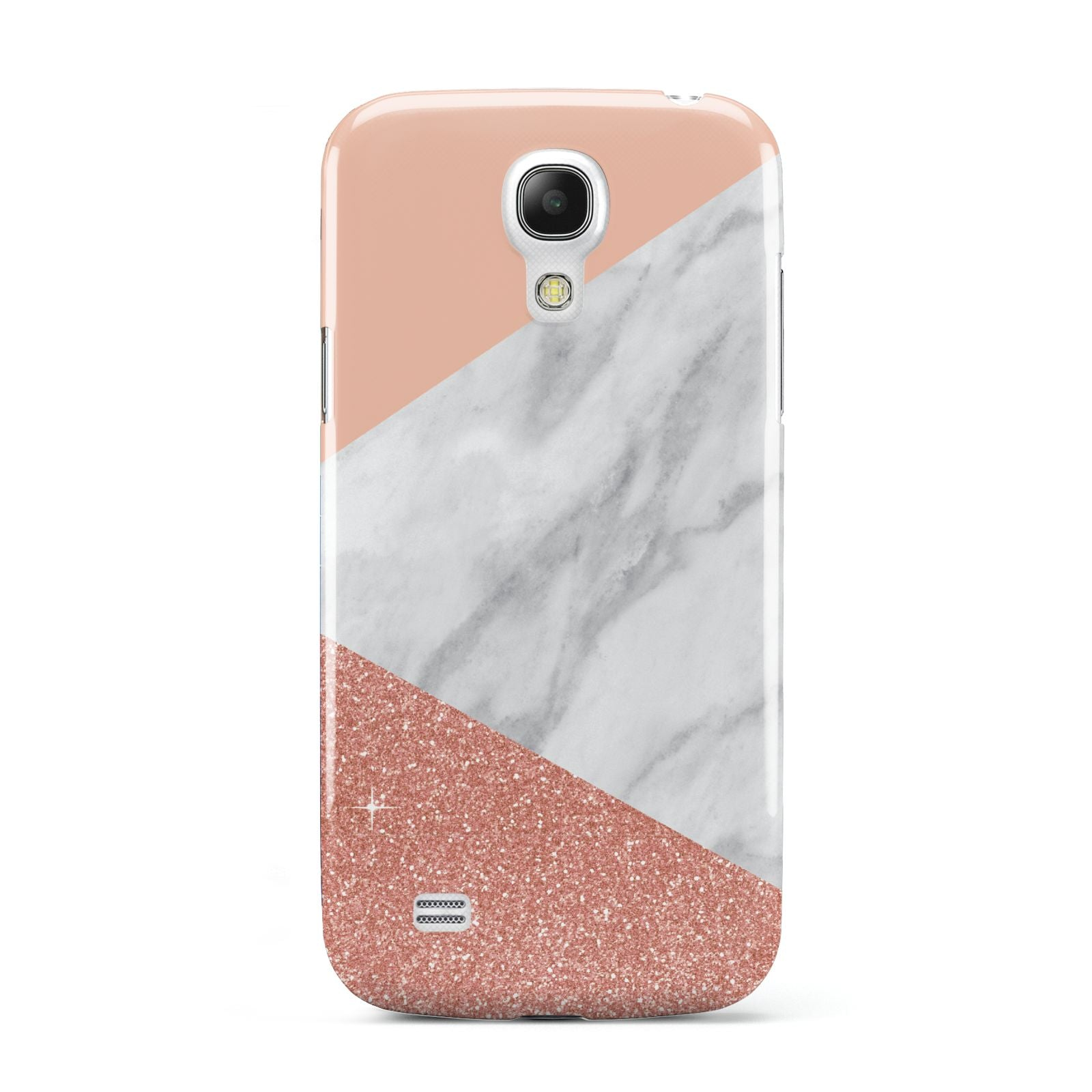 Marble White Rose Gold Samsung Galaxy S4 Mini Case