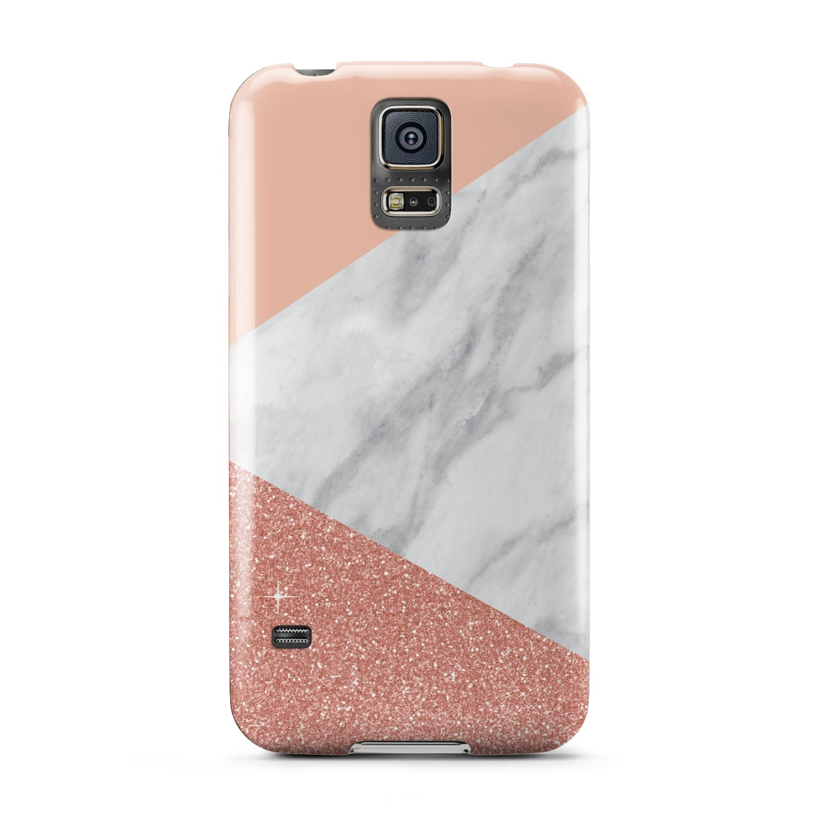 Marble White Rose Gold Samsung Galaxy S5 Case