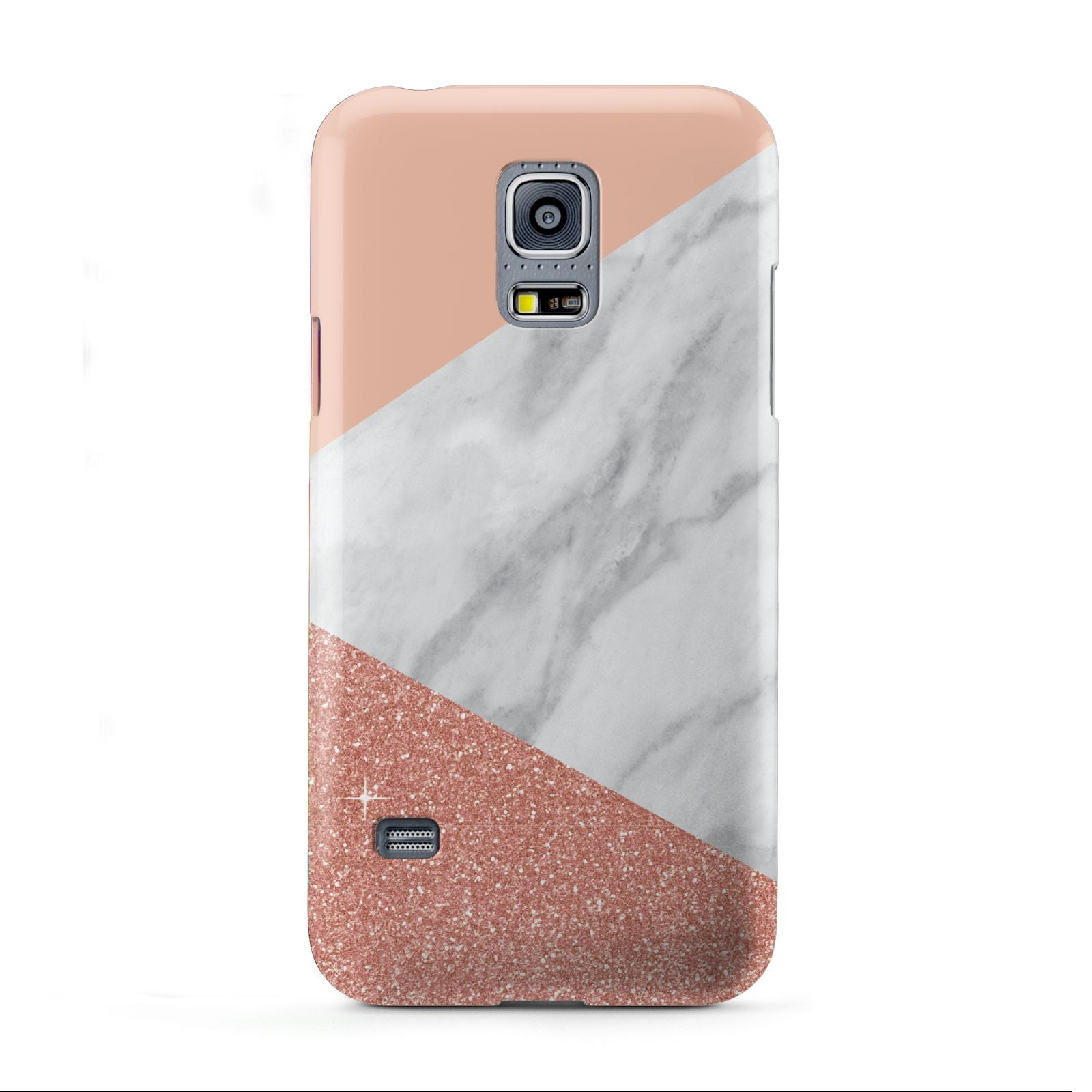 Marble White Rose Gold Samsung Galaxy S5 Mini Case