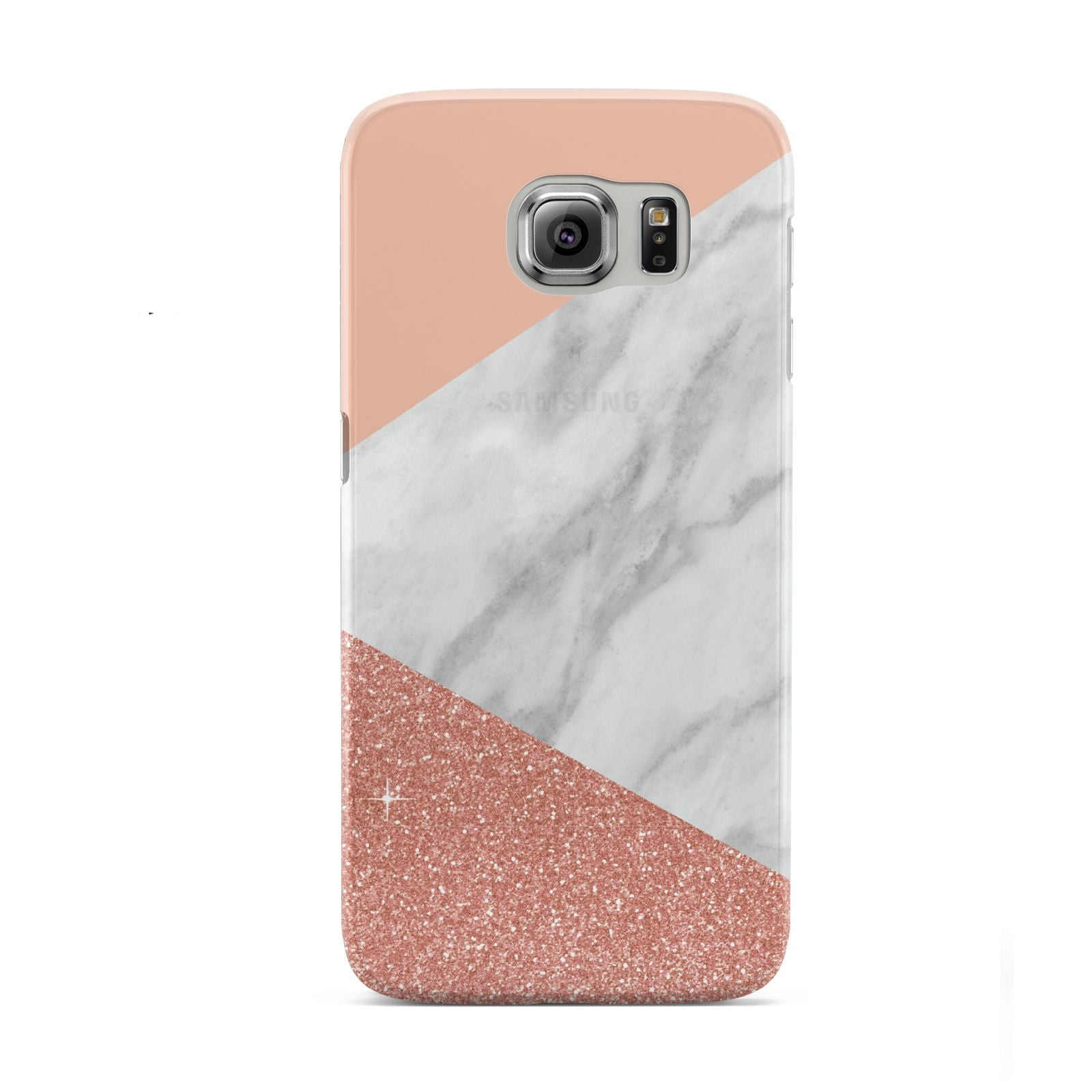 Marble White Rose Gold Samsung Galaxy S6 Case