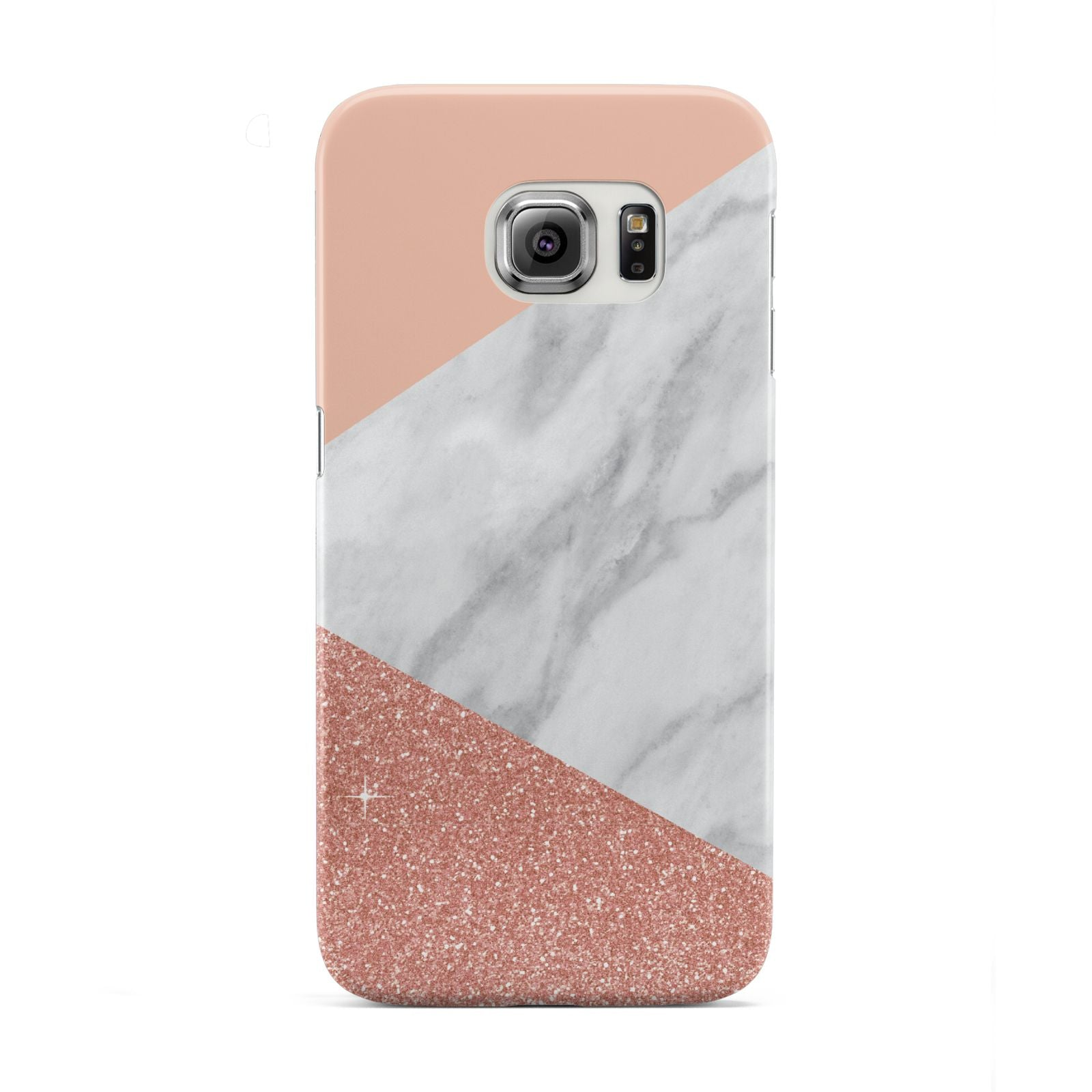 Marble White Rose Gold Samsung Galaxy S6 Edge Case