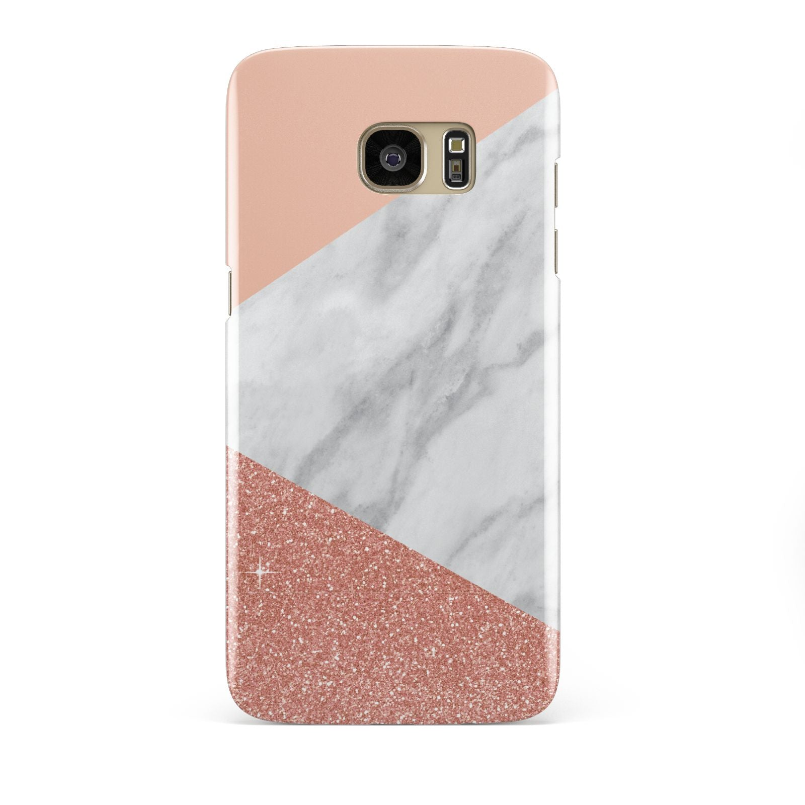 Marble White Rose Gold Samsung Galaxy S7 Edge Case