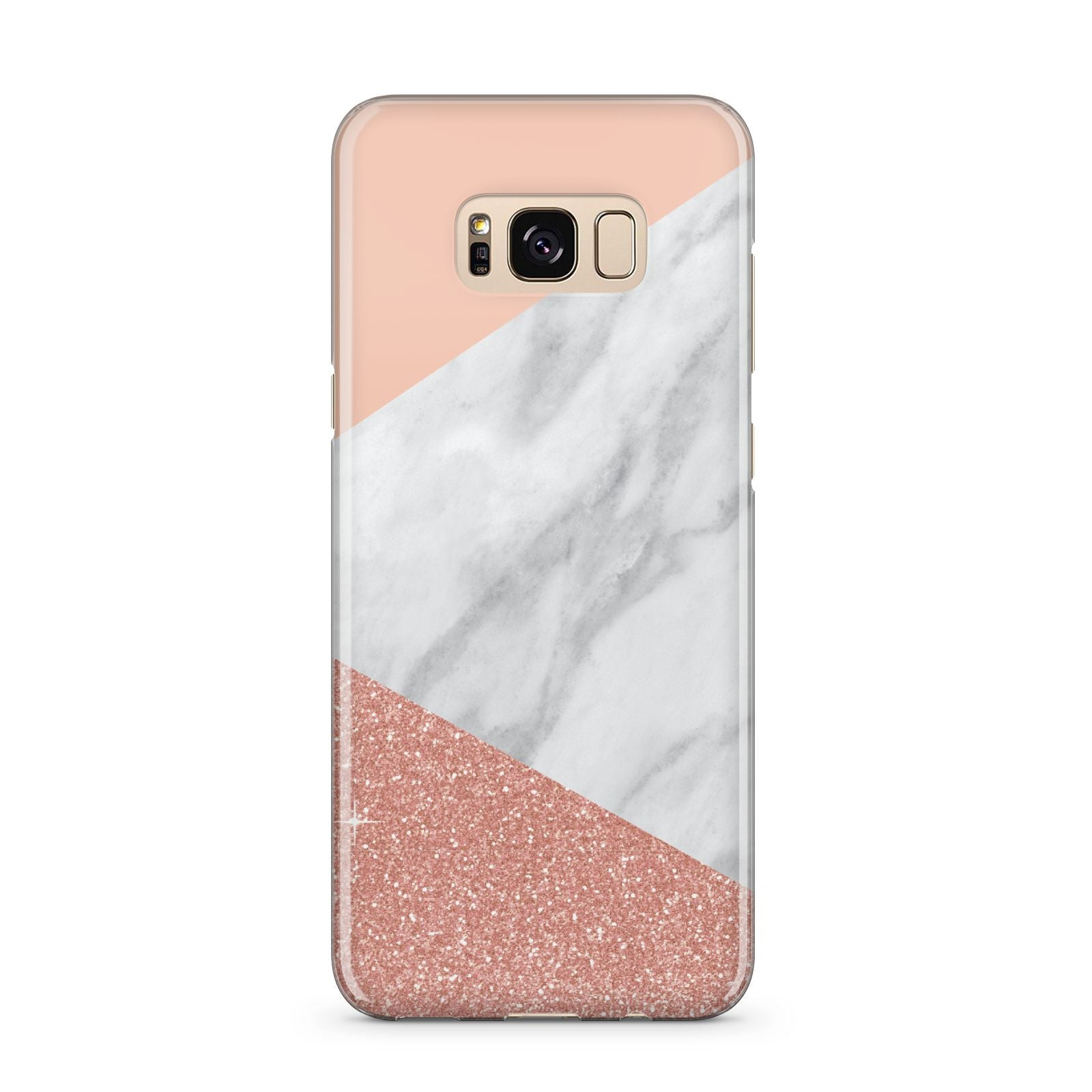 Marble White Rose Gold Samsung Galaxy S8 Plus Case