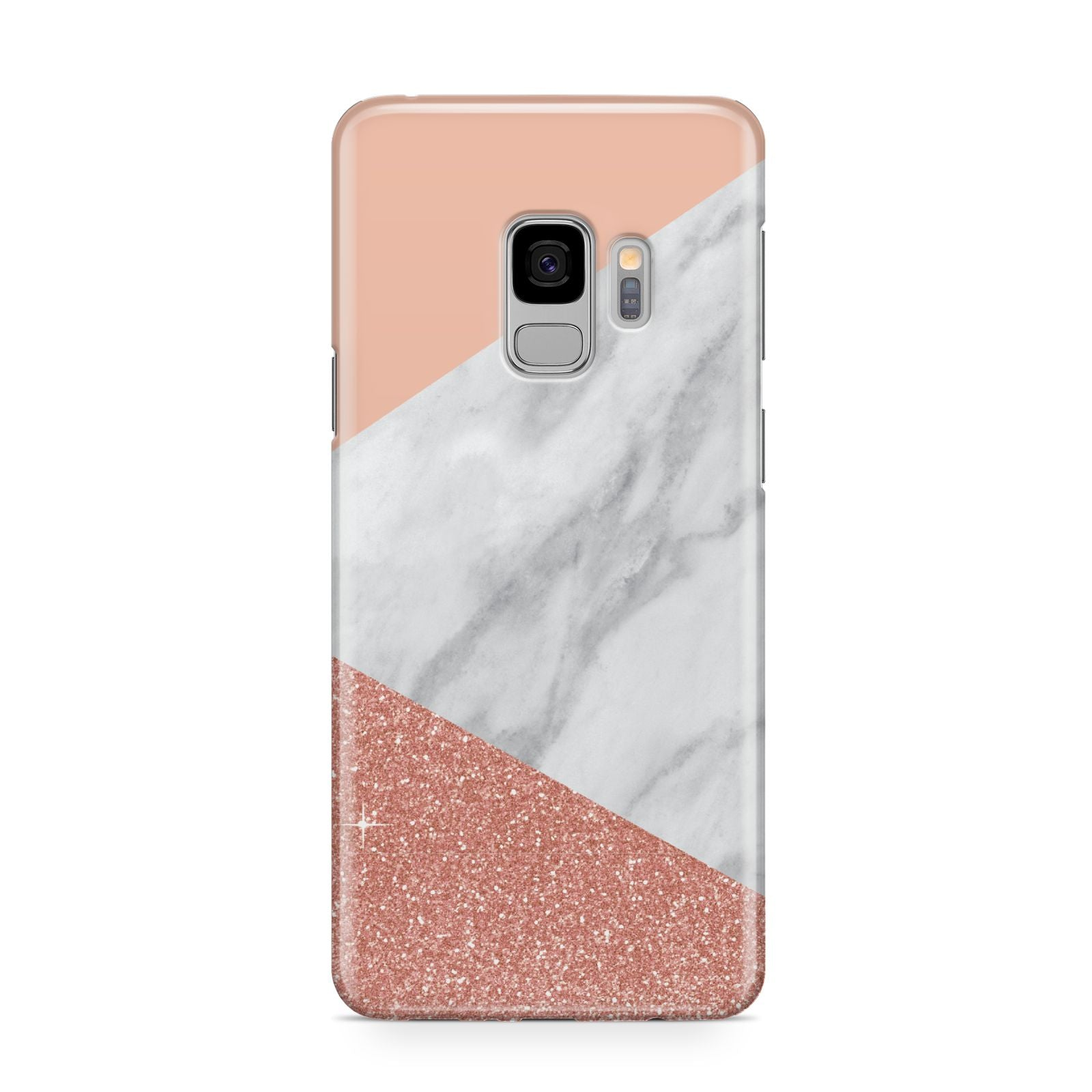 Marble White Rose Gold Samsung Galaxy S9 Case