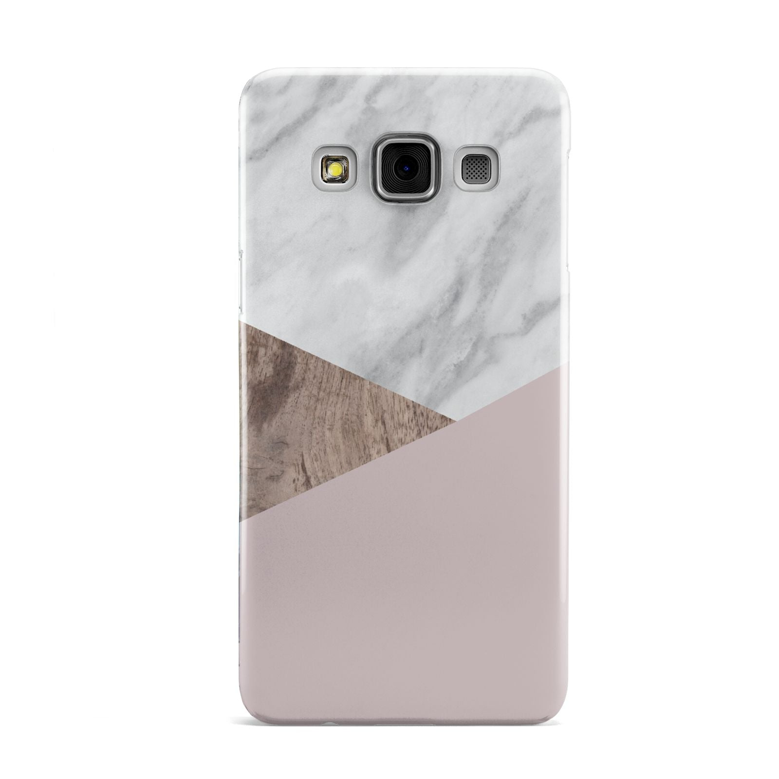 Marble Wood Geometric 3 Samsung Galaxy A3 Case