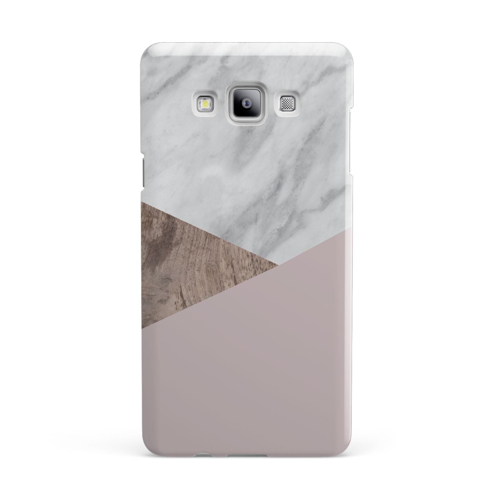 Marble Wood Geometric 3 Samsung Galaxy A7 2015 Case