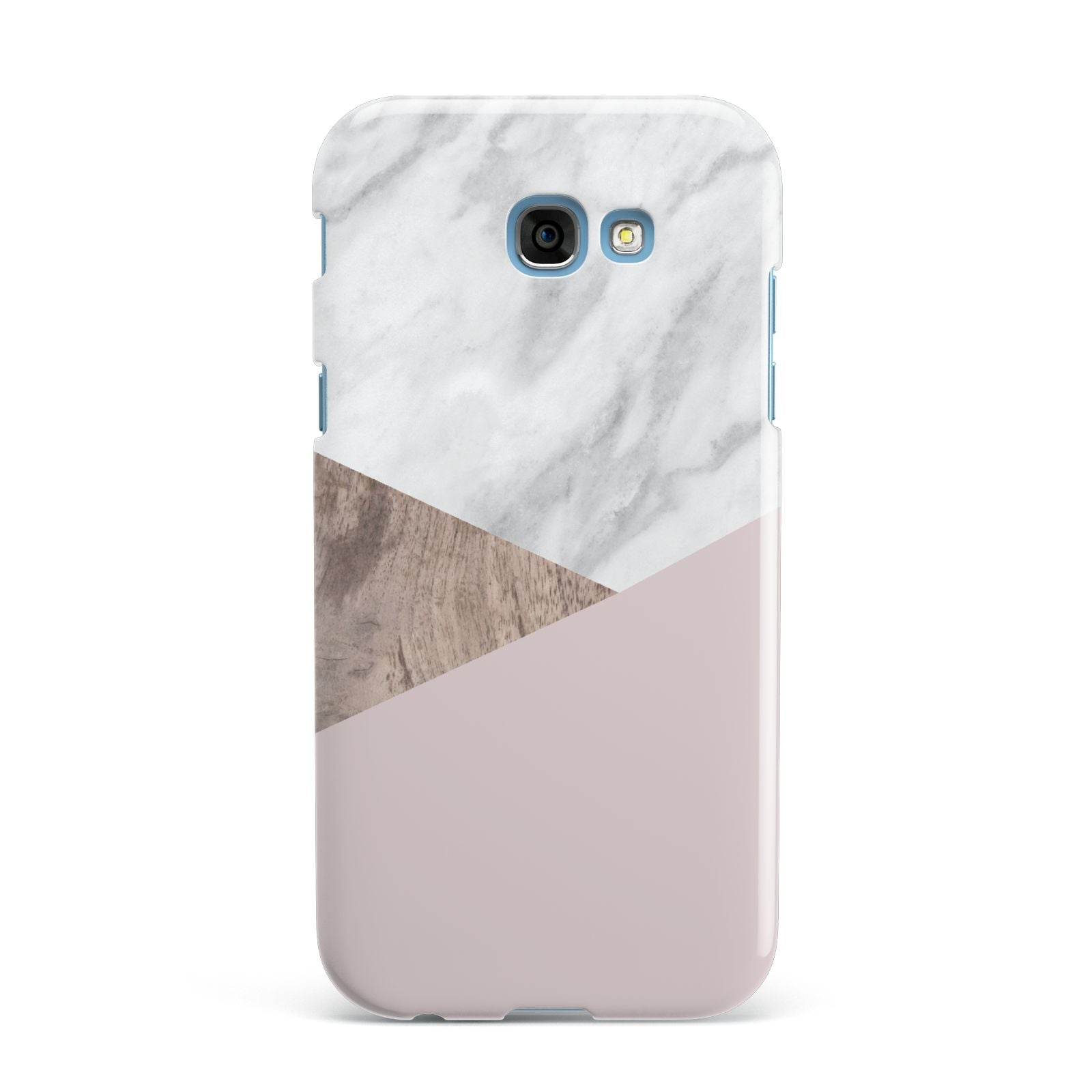Marble Wood Geometric 3 Samsung Galaxy A7 2017 Case