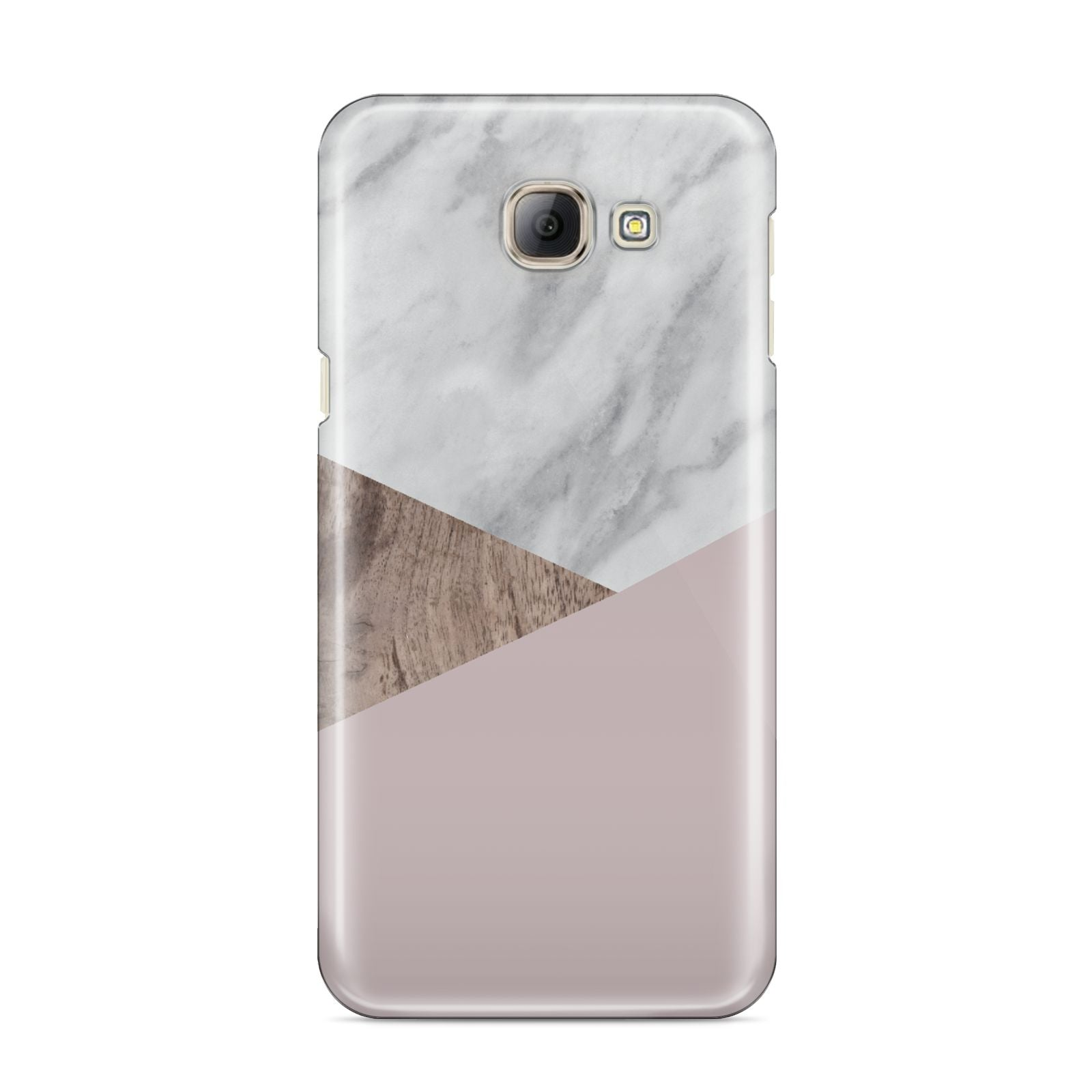 Marble Wood Geometric 3 Samsung Galaxy A8 2016 Case