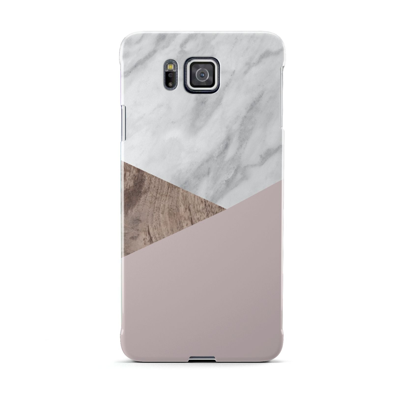 Marble Wood Geometric 3 Samsung Galaxy Alpha Case