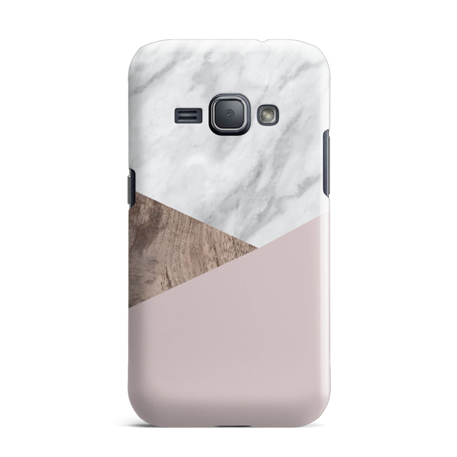 Marble Wood Geometric 3 Samsung Galaxy J1 2016 Case