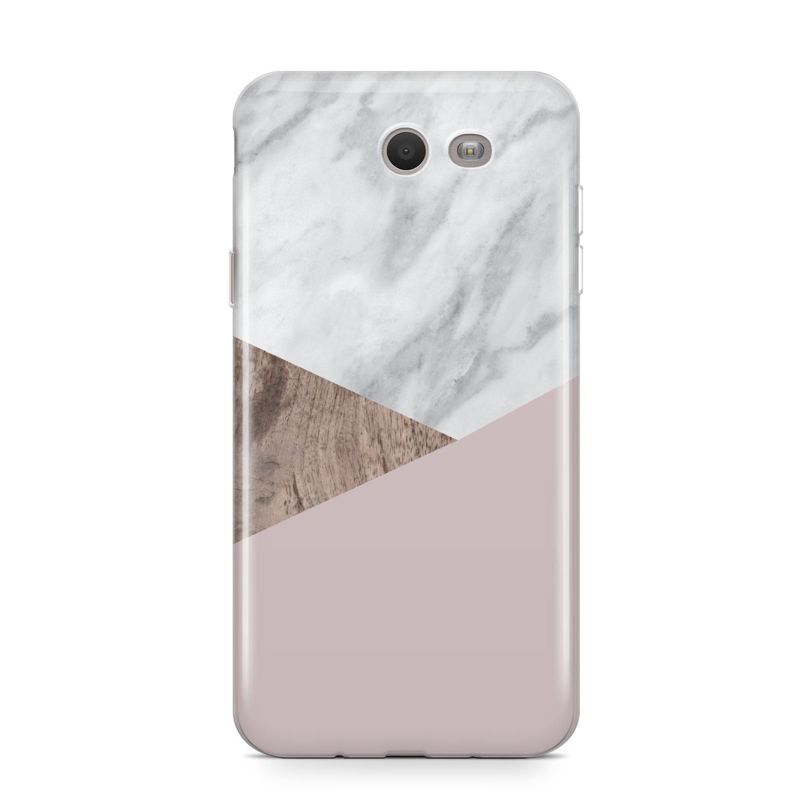 Marble Wood Geometric 3 Samsung Galaxy J7 2017 Case