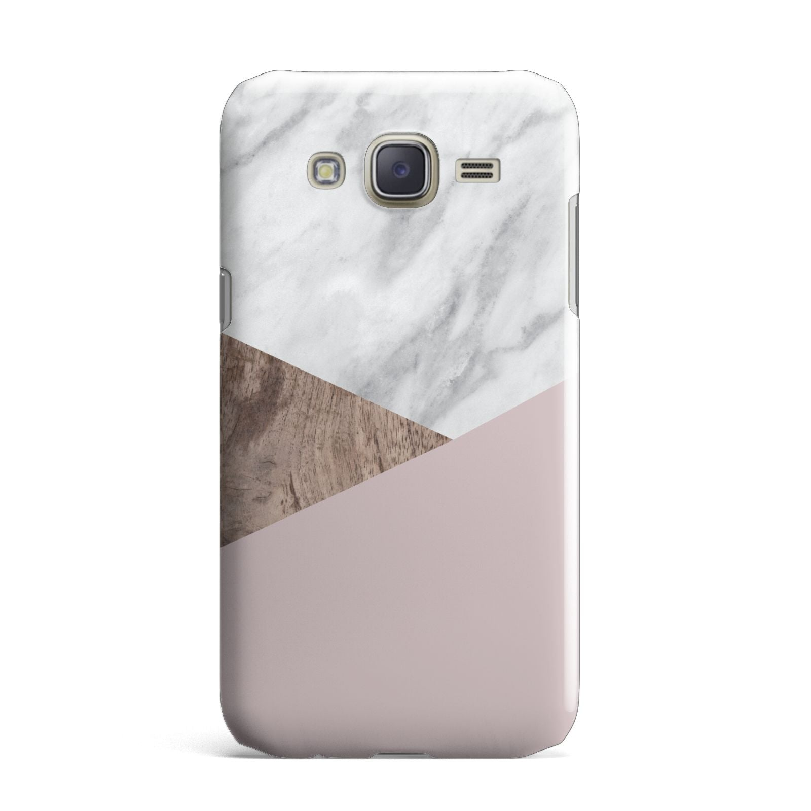 Marble Wood Geometric 3 Samsung Galaxy J7 Case