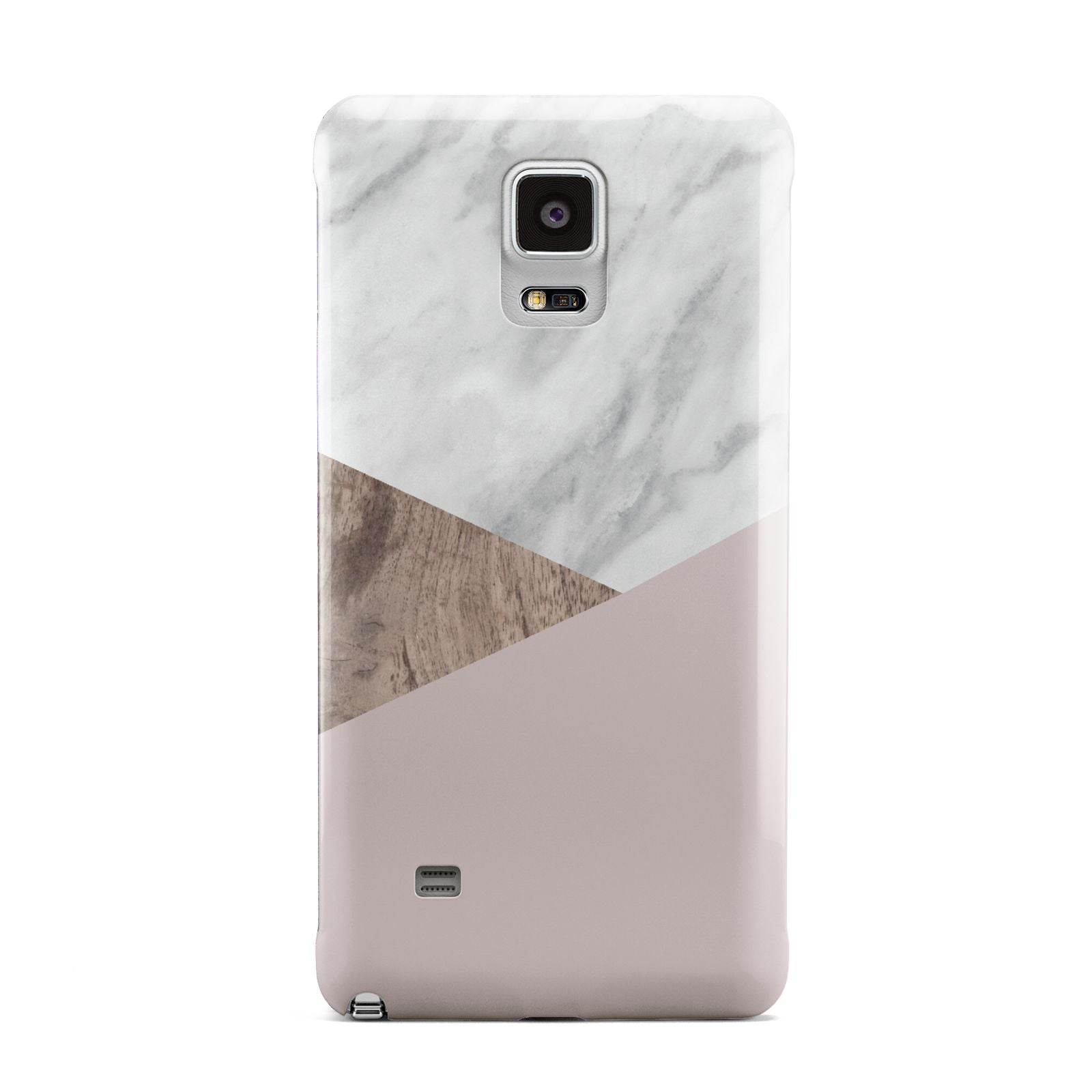 Marble Wood Geometric 3 Samsung Galaxy Note 4 Case