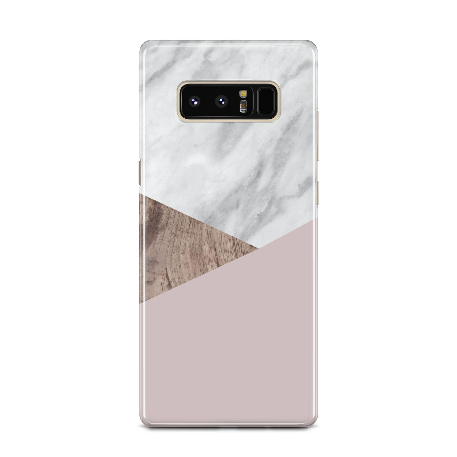 Marble Wood Geometric 3 Samsung Galaxy Note 8 Case