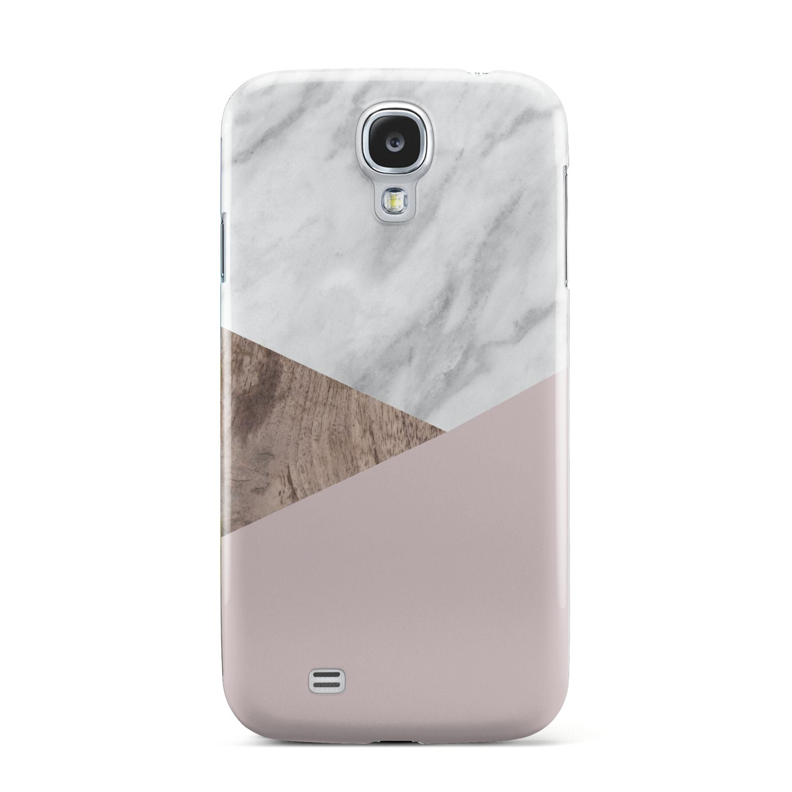 Marble Wood Geometric 3 Samsung Galaxy S4 Case