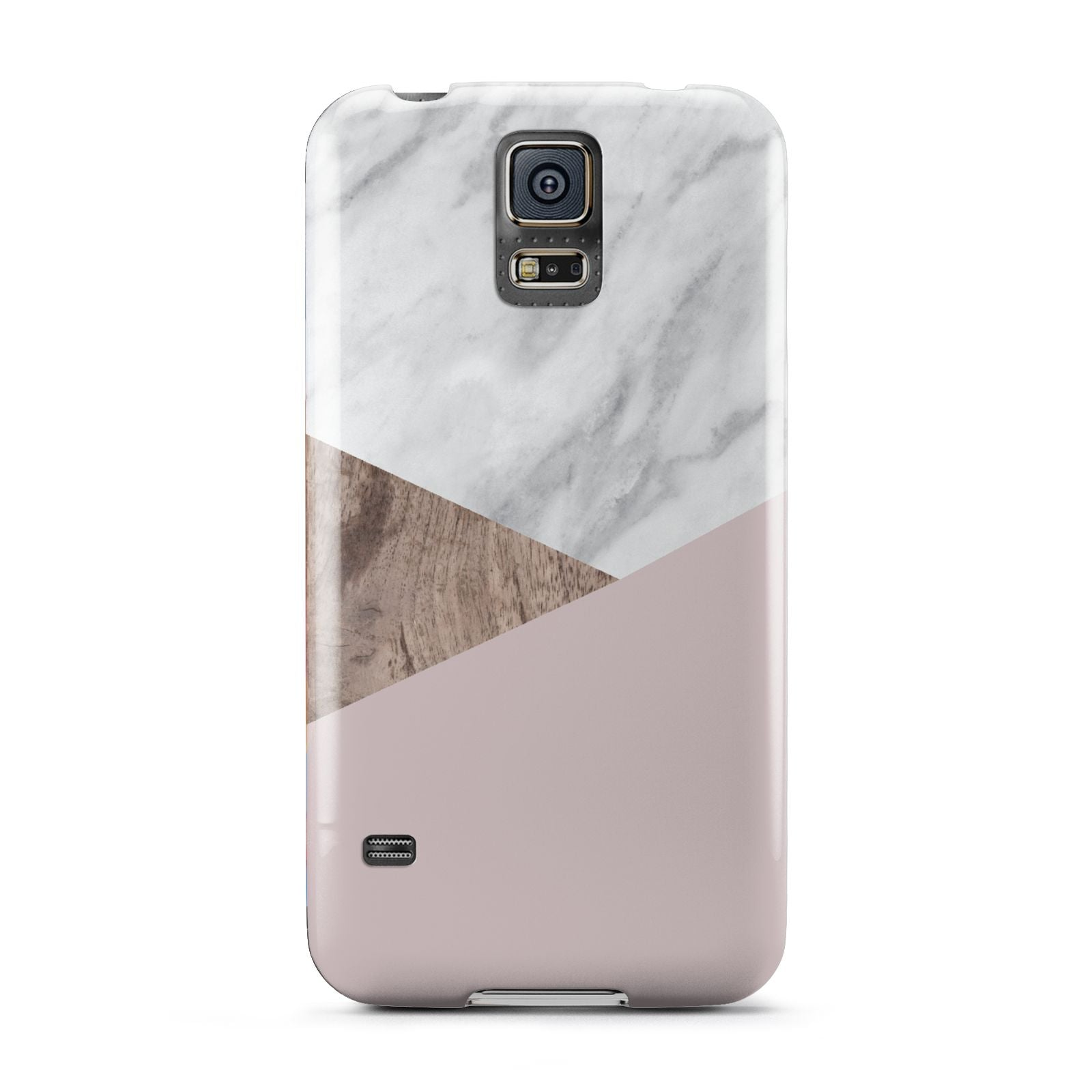 Marble Wood Geometric 3 Samsung Galaxy S5 Case