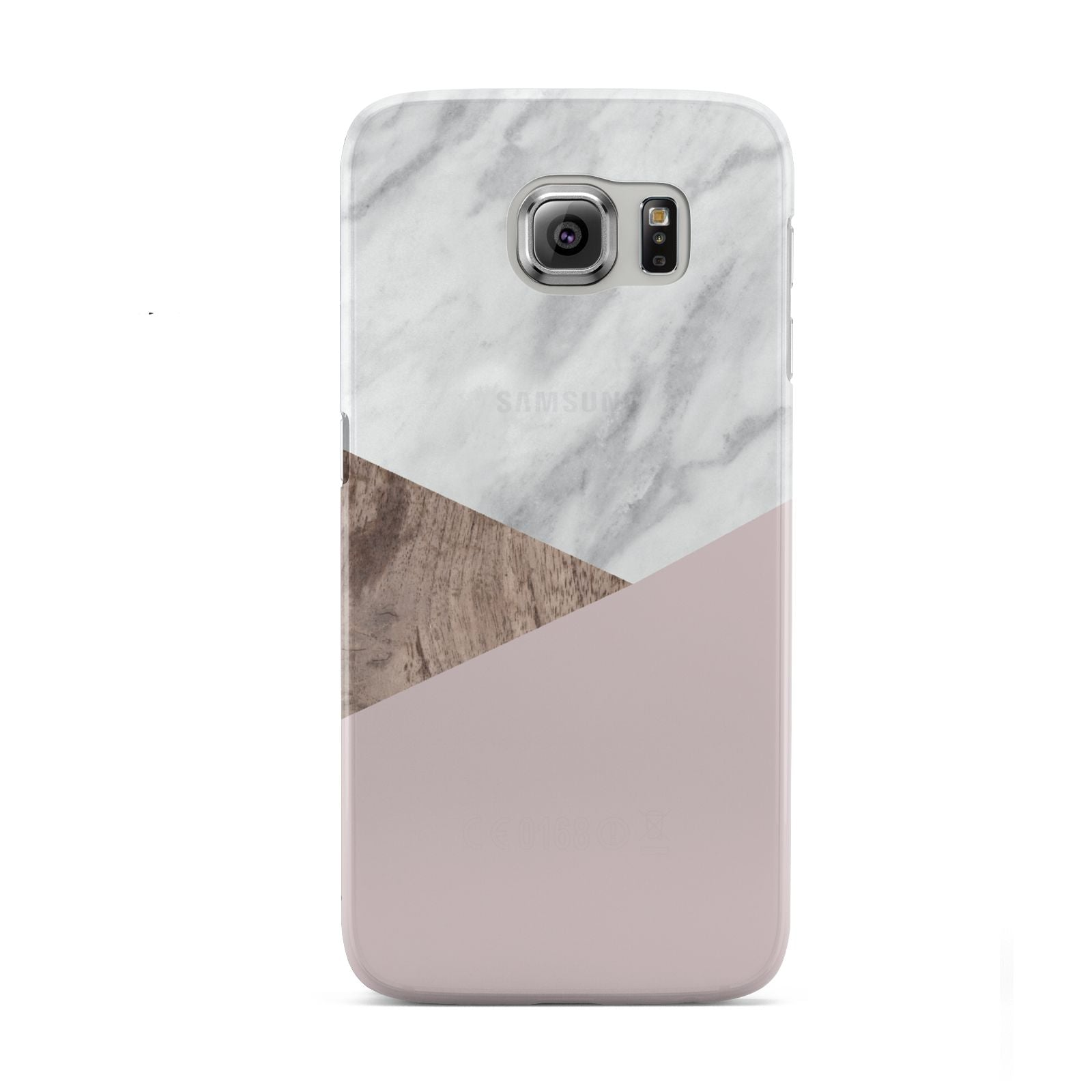 Marble Wood Geometric 3 Samsung Galaxy S6 Case