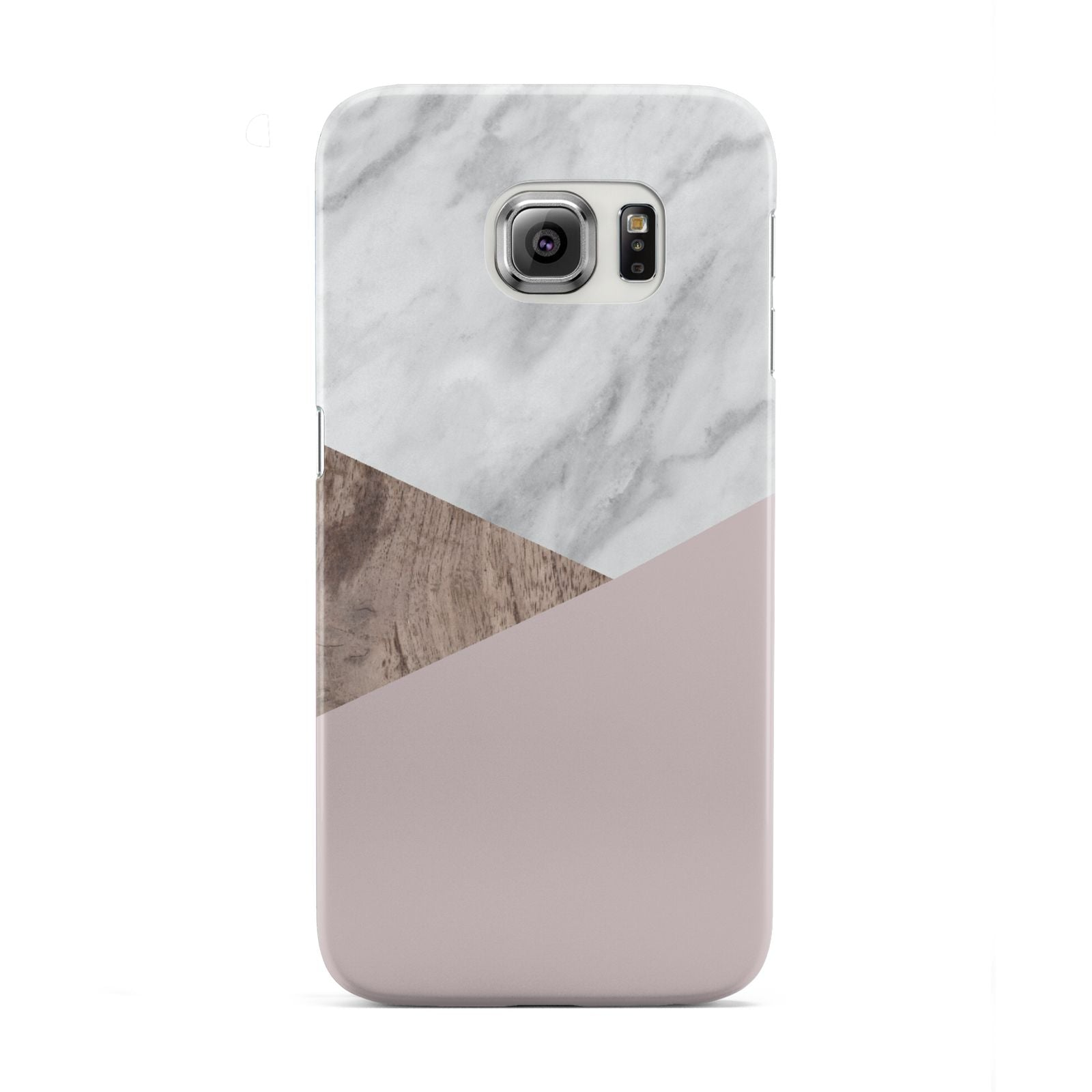 Marble Wood Geometric 3 Samsung Galaxy S6 Edge Case