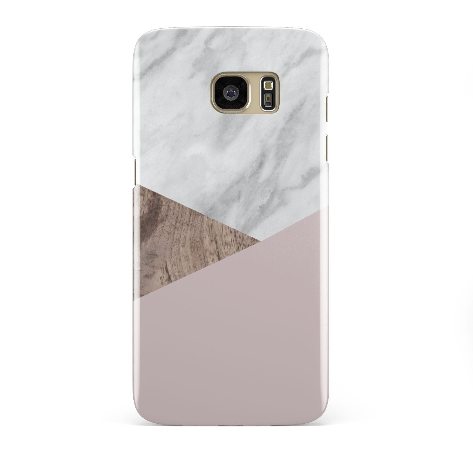 Marble Wood Geometric 3 Samsung Galaxy S7 Edge Case