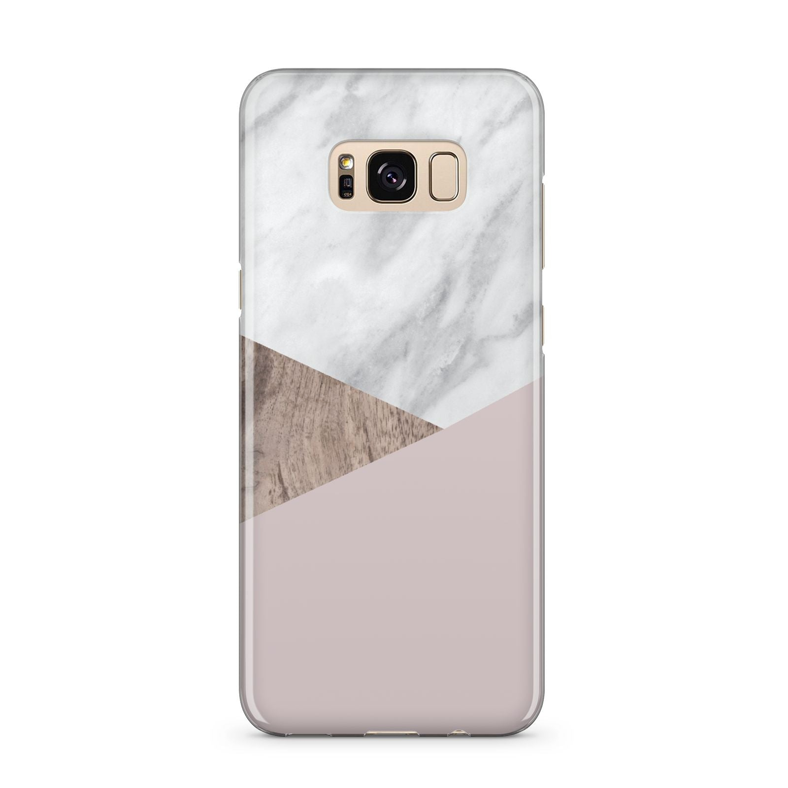 Marble Wood Geometric 3 Samsung Galaxy S8 Plus Case