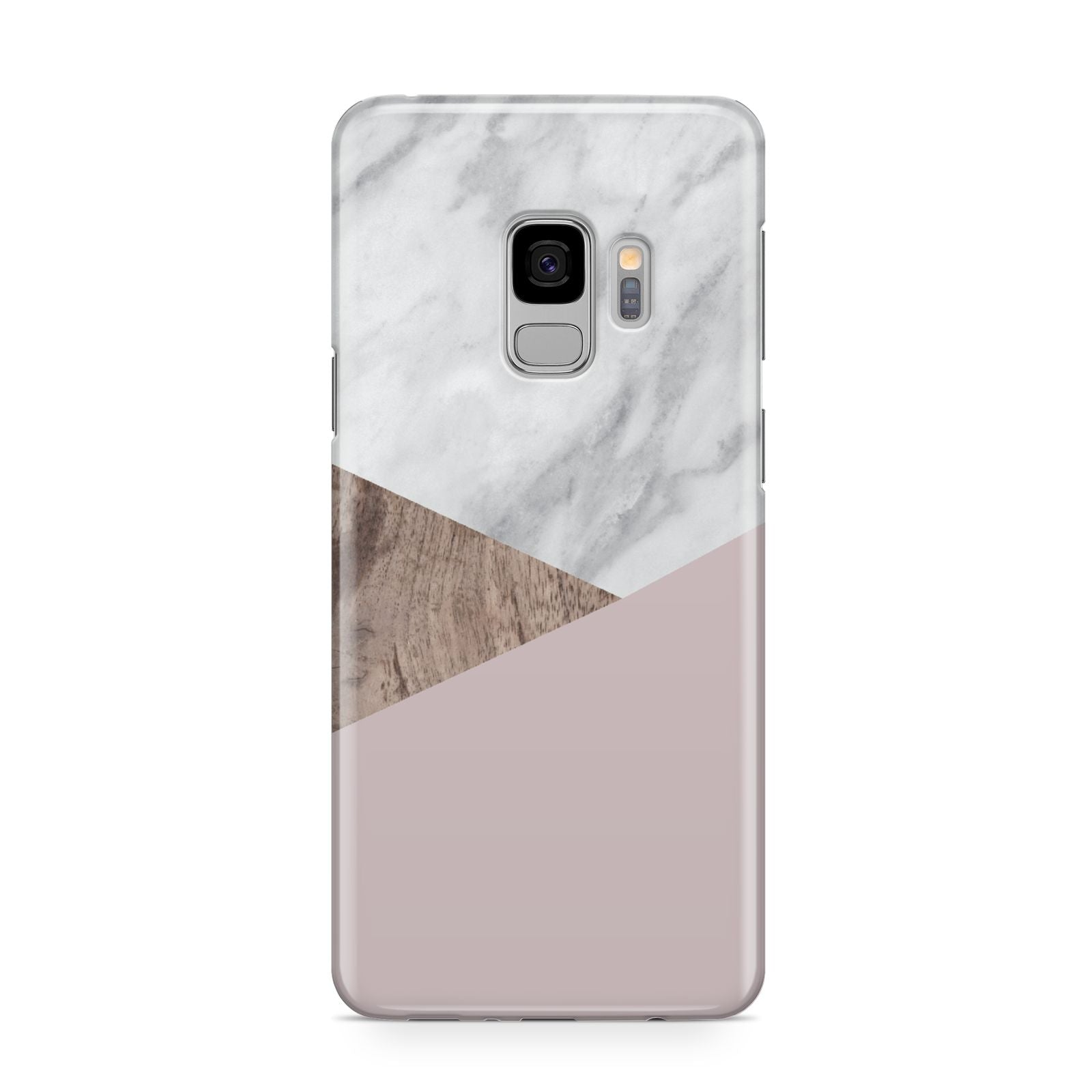 Marble Wood Geometric 3 Samsung Galaxy S9 Case