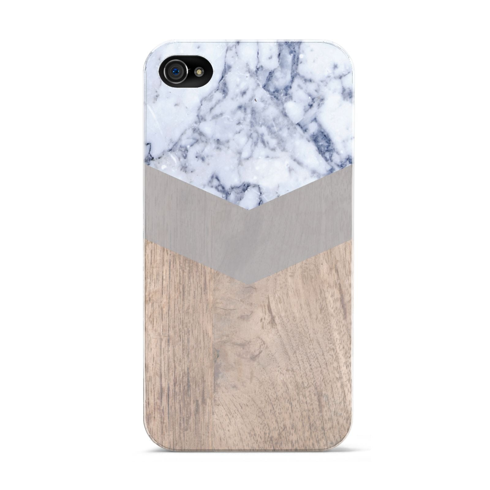 Marble Wood Geometric 4 Apple iPhone 4s Case