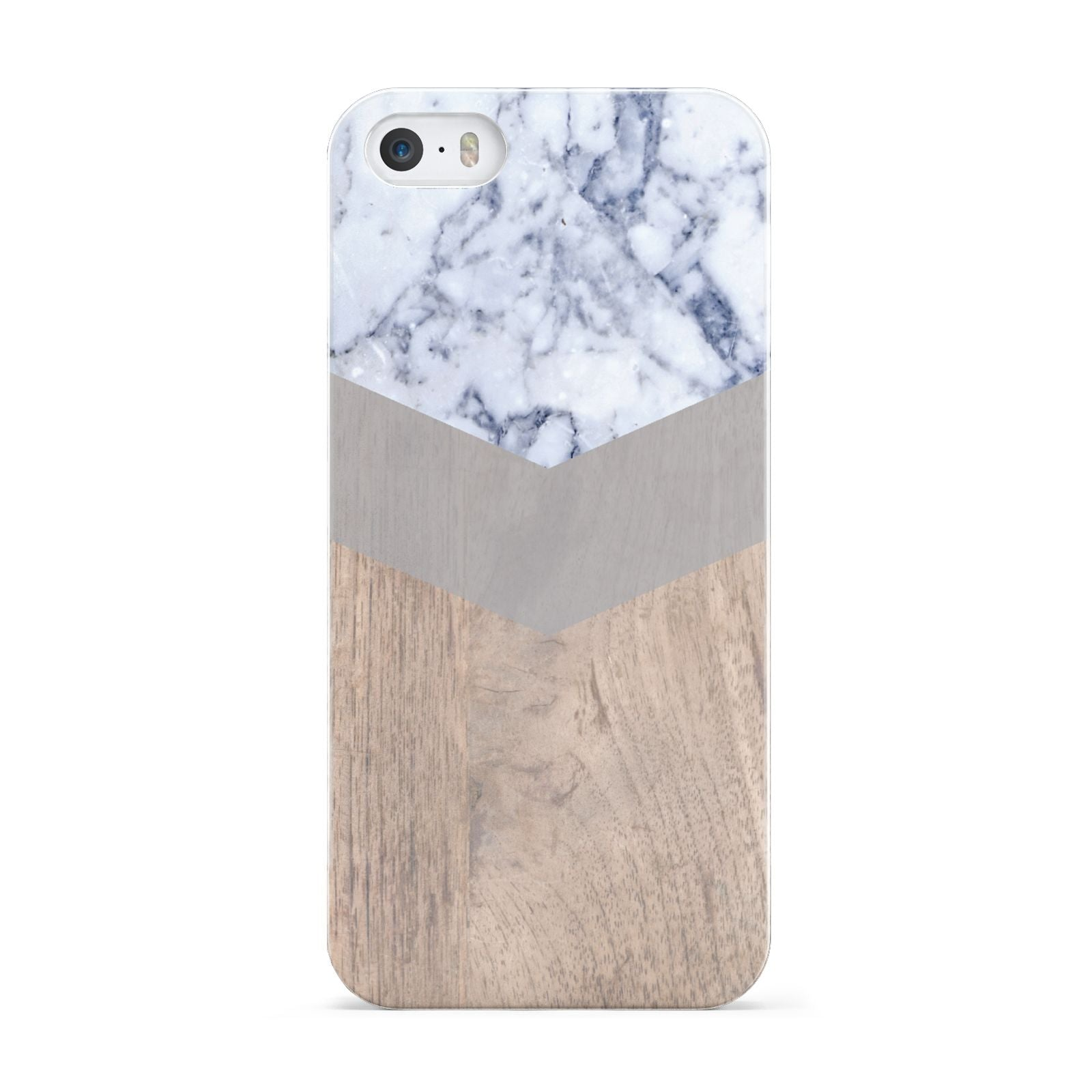 Marble Wood Geometric 4 Apple iPhone 5 Case
