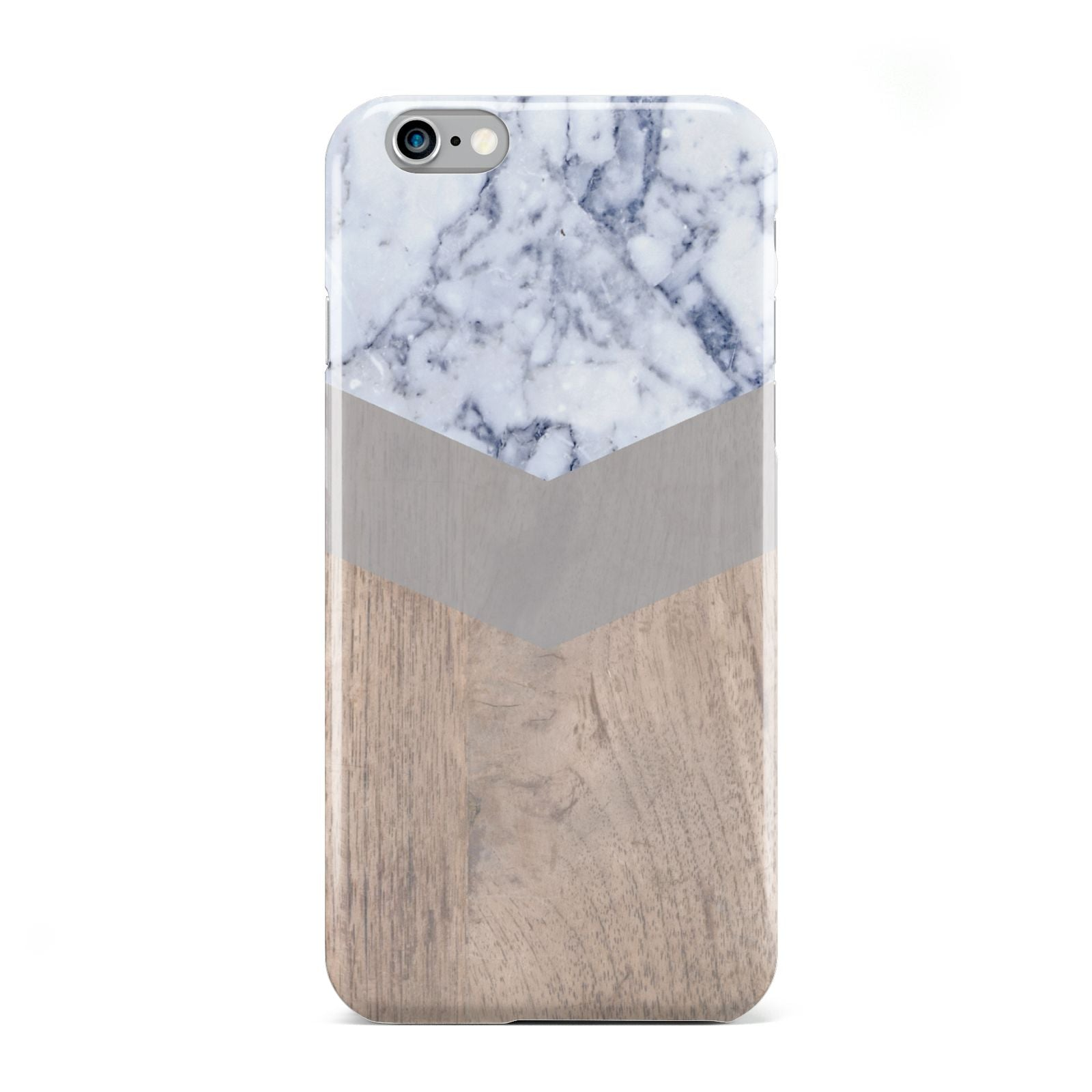 Marble Wood Geometric 4 Apple iPhone 6 Case