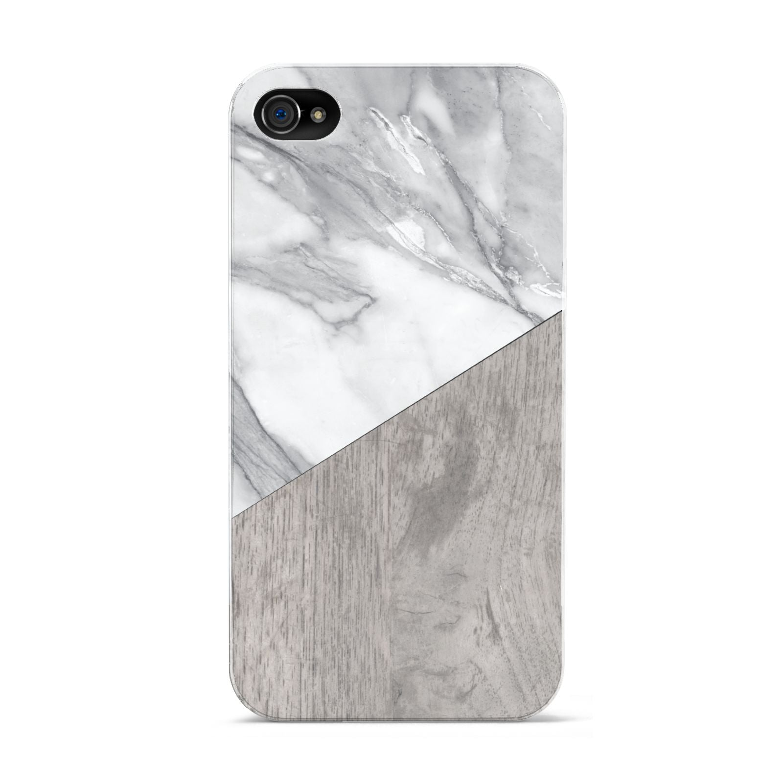 Marble Wood Geometric 5 Apple iPhone 4s Case