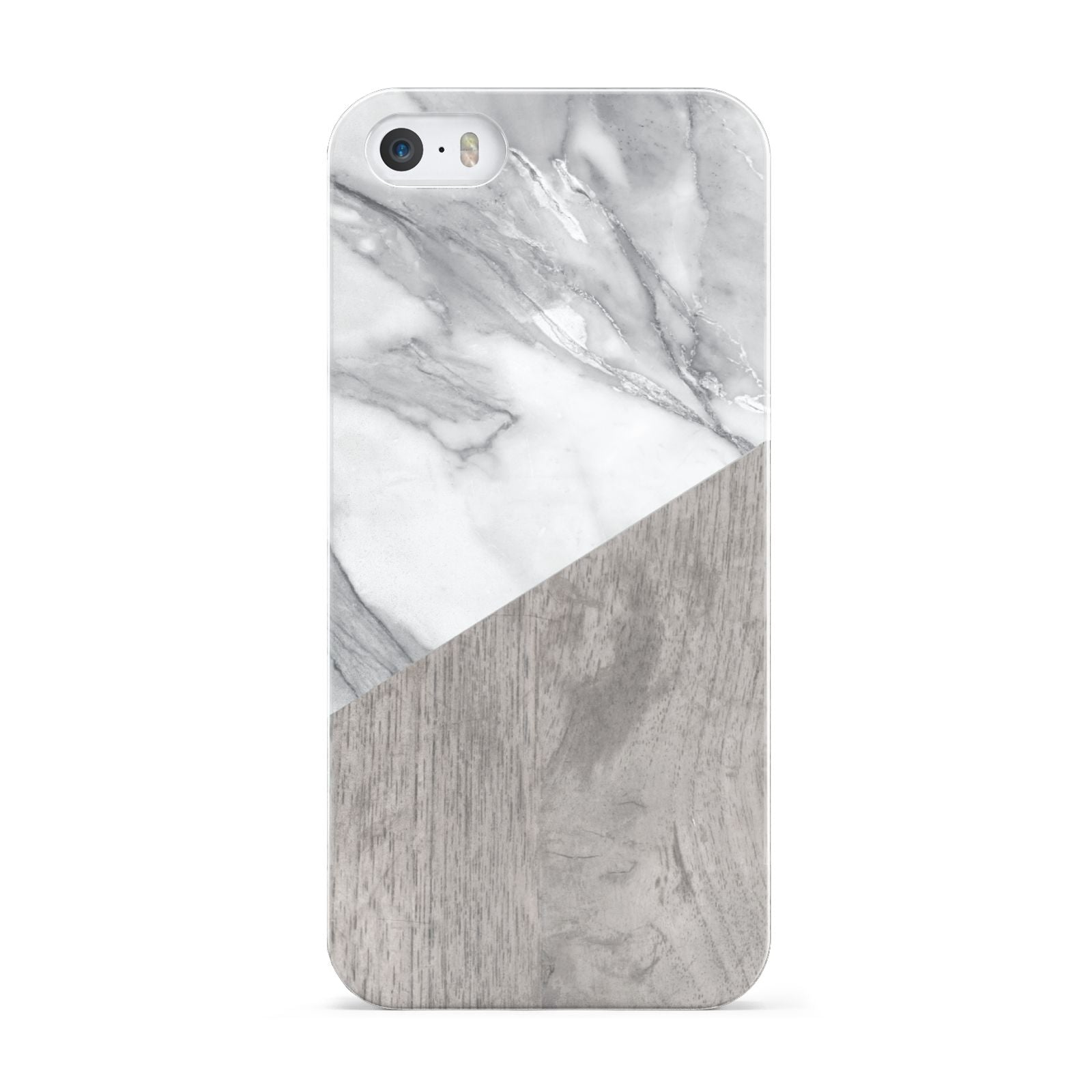 Marble Wood Geometric 5 Apple iPhone 5 Case