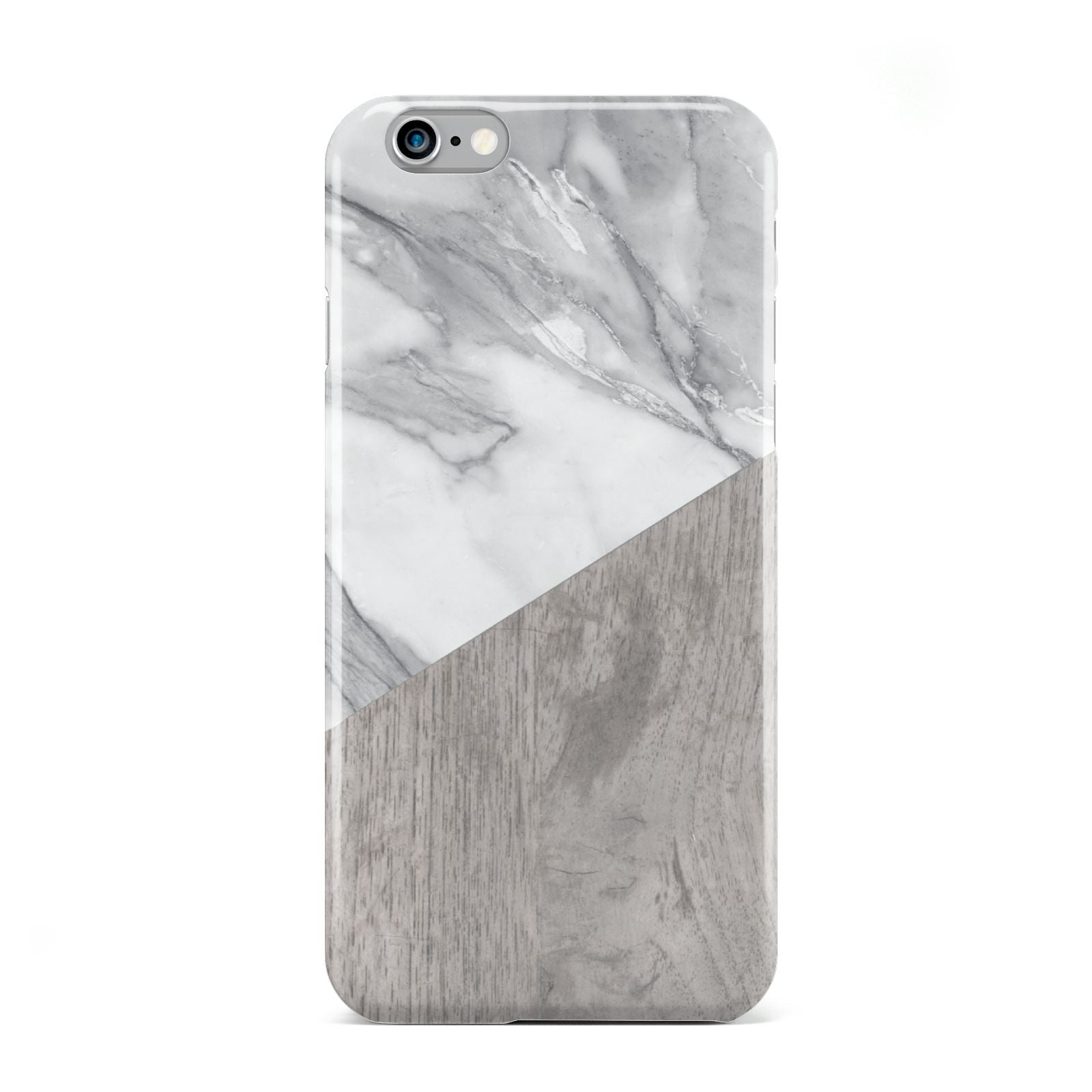 Marble Wood Geometric 5 Apple iPhone 6 Case