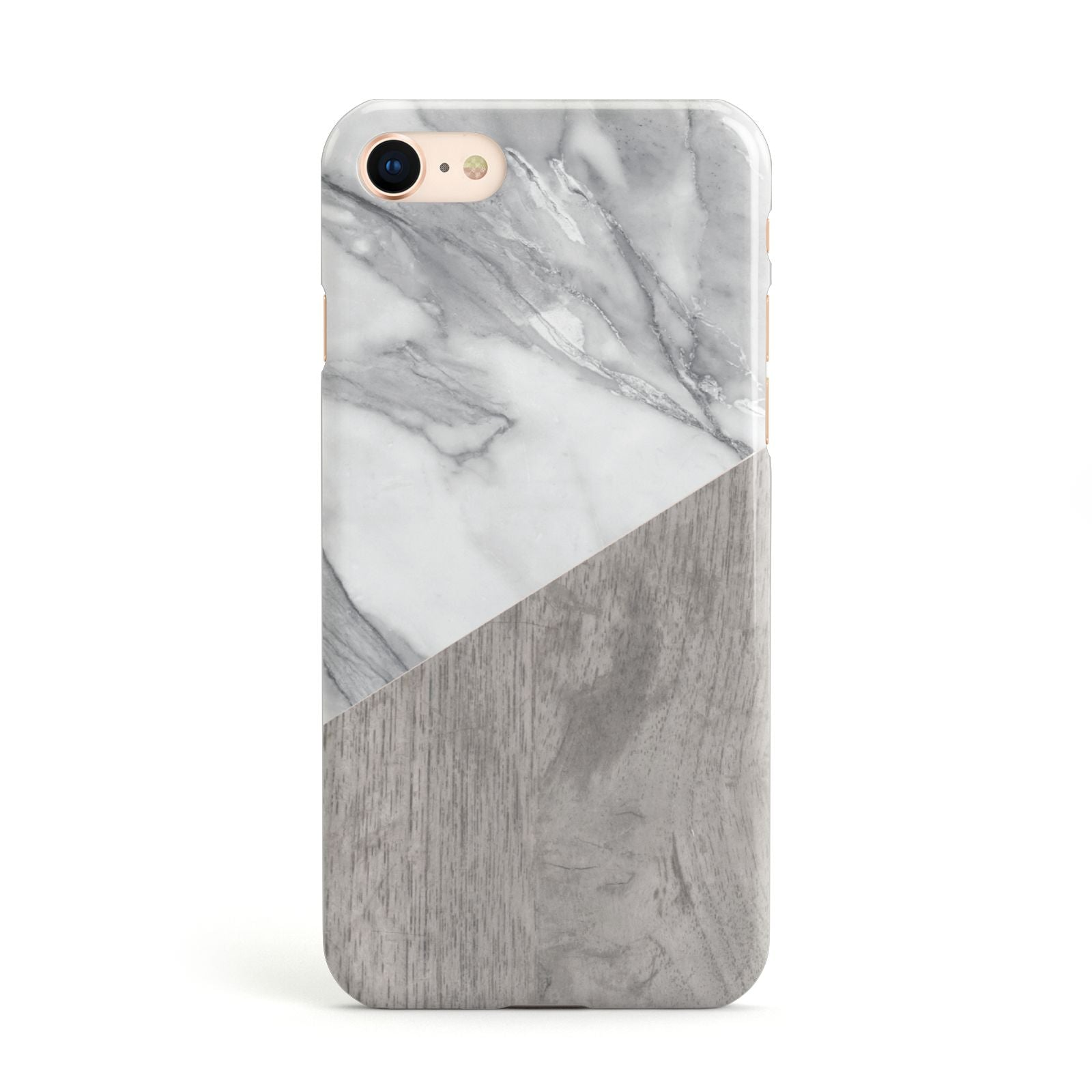 Marble Wood Geometric 5 Apple iPhone Case