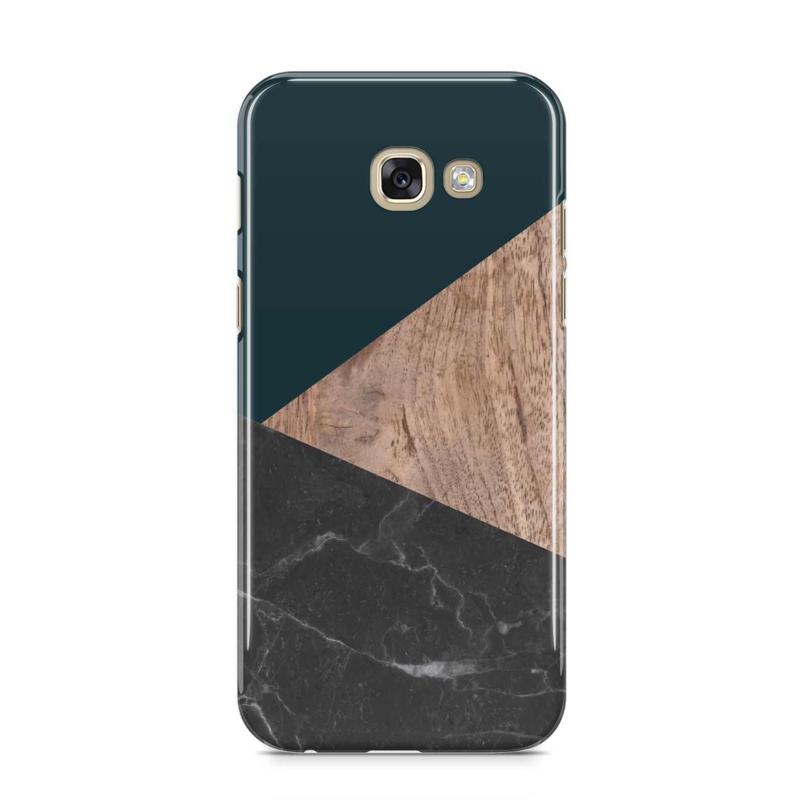 Marble Wood Geometric 6 Samsung Galaxy A5 2017 Case on gold phone