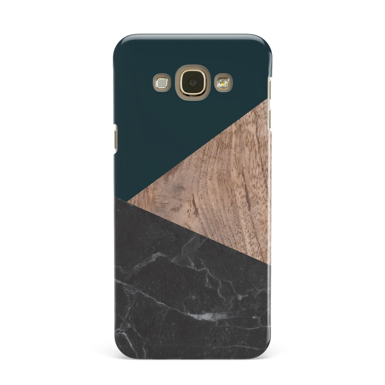 Marble Wood Geometric 6 Samsung Galaxy A8 Case