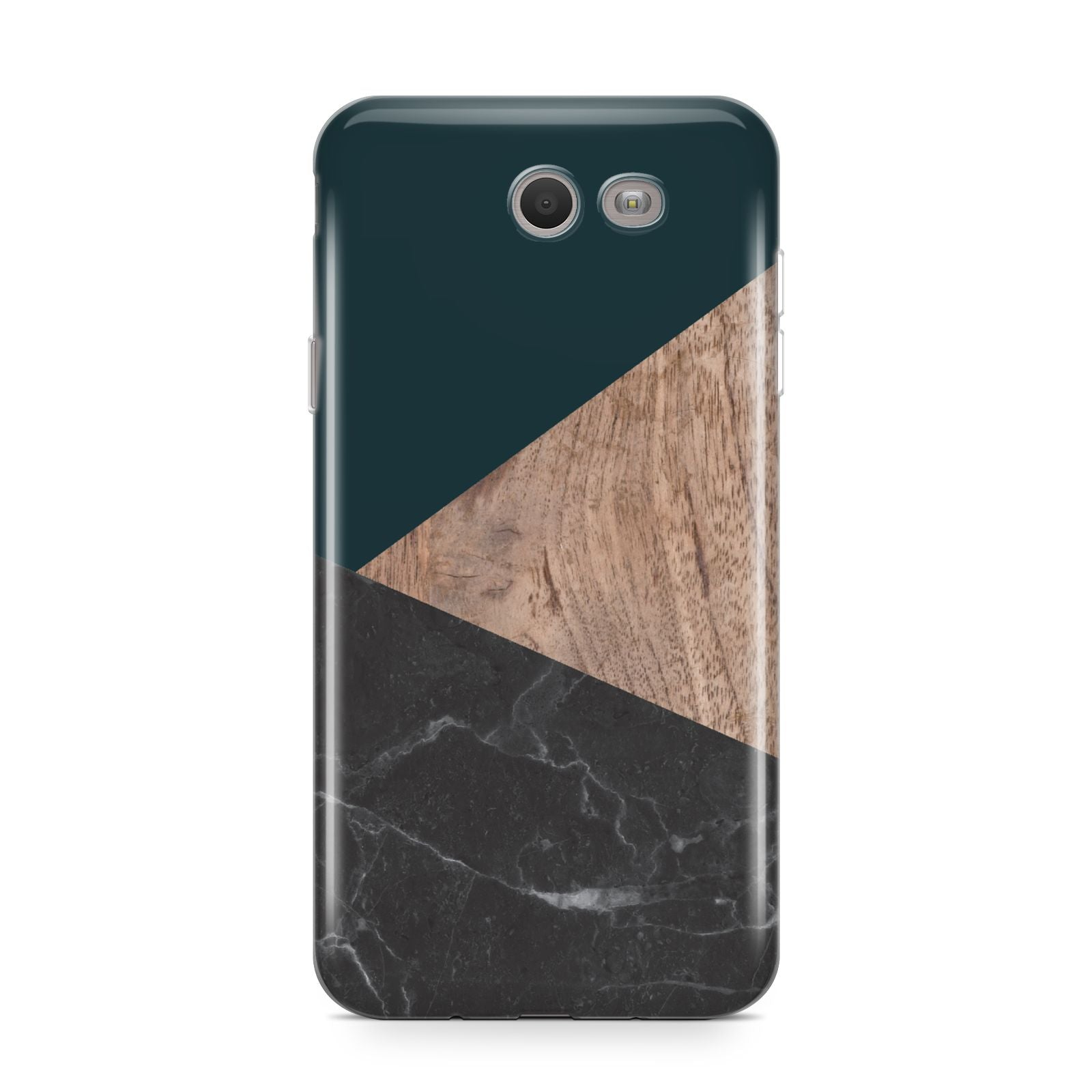 Marble Wood Geometric 6 Samsung Galaxy J7 2017 Case